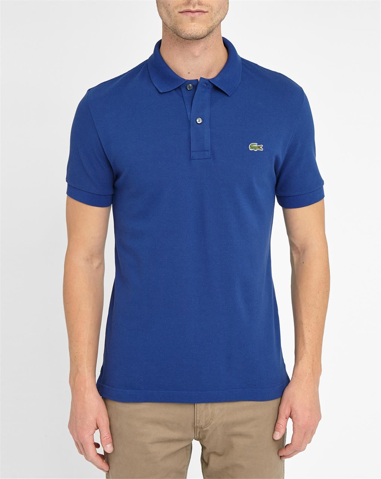 lacoste royal blue logo short sleeve slim fit polo shirt. Black Bedroom Furniture Sets. Home Design Ideas