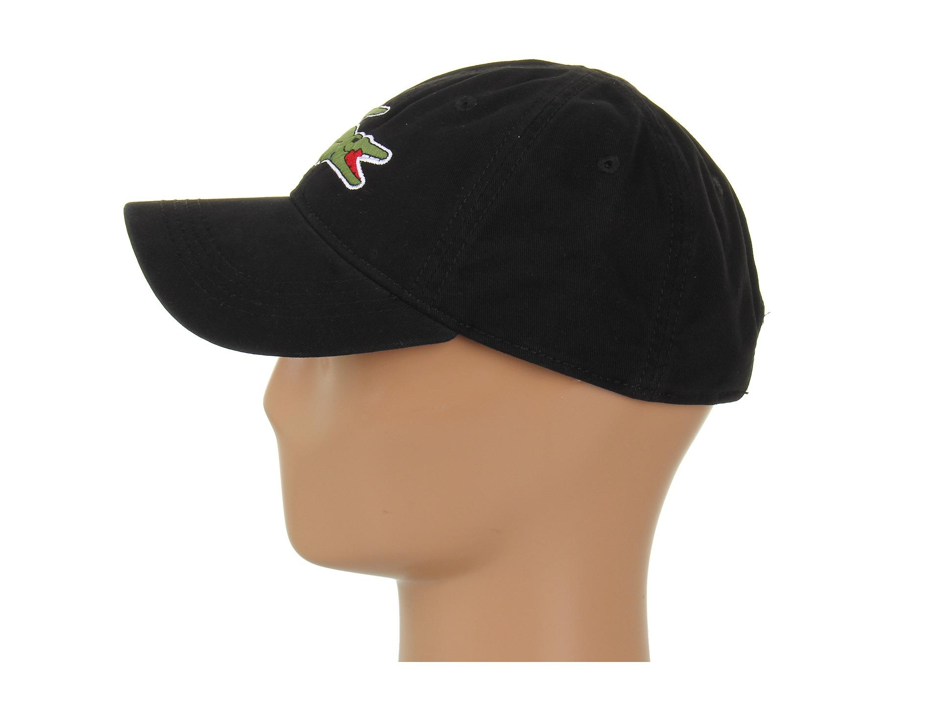 0f9a2bad12d Lyst - Lacoste Large Croc Gabardine Cap in Black for Men