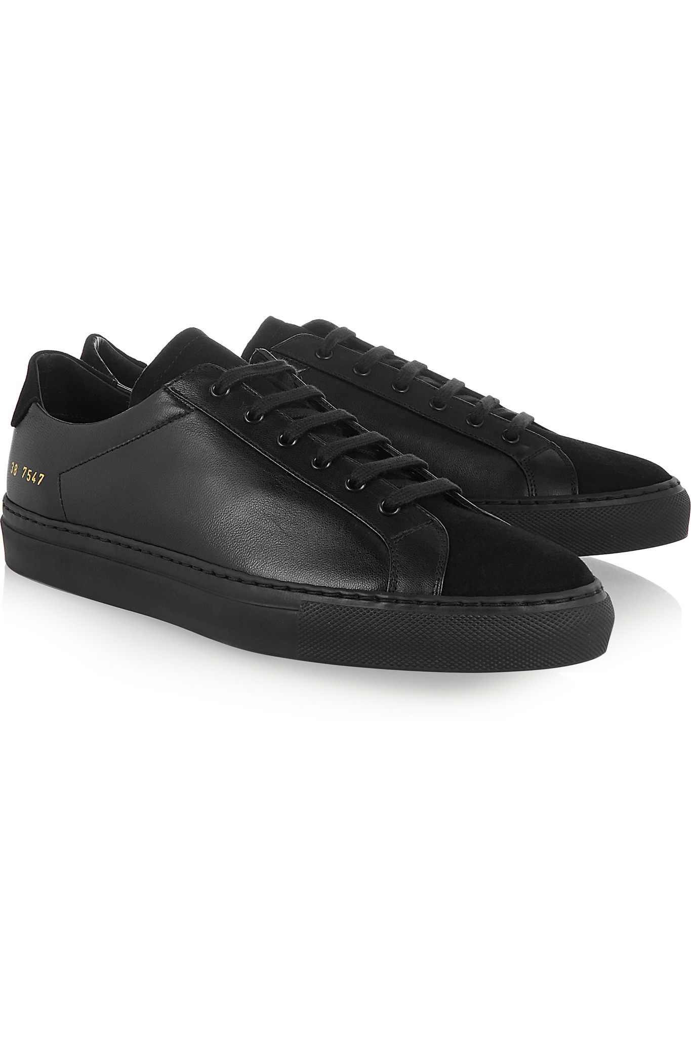 Common Project All Black Shoes