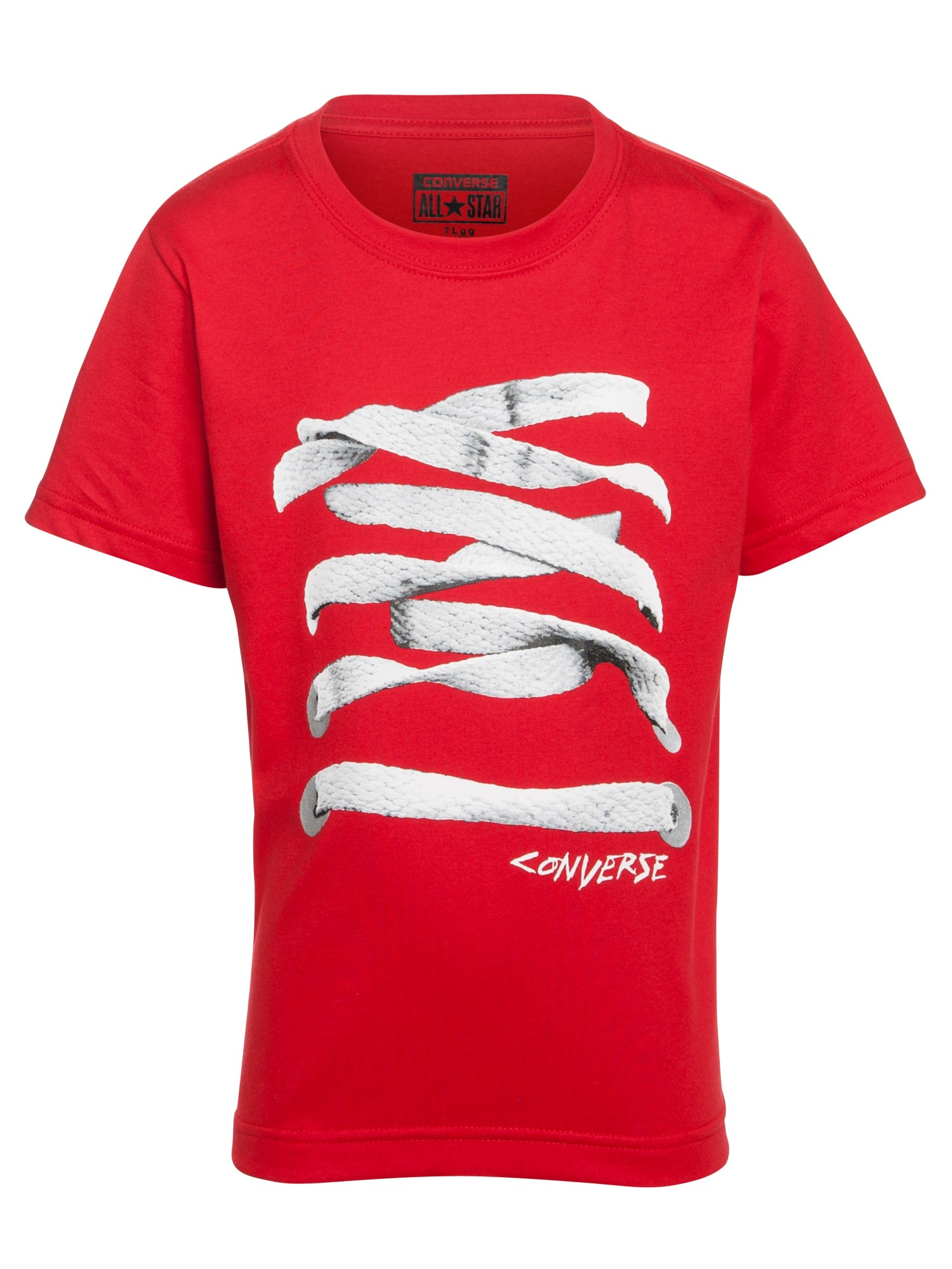 eee271cc9ca1 Converse Boys Shoe Lace Print Tshirt in Red for Men - Lyst
