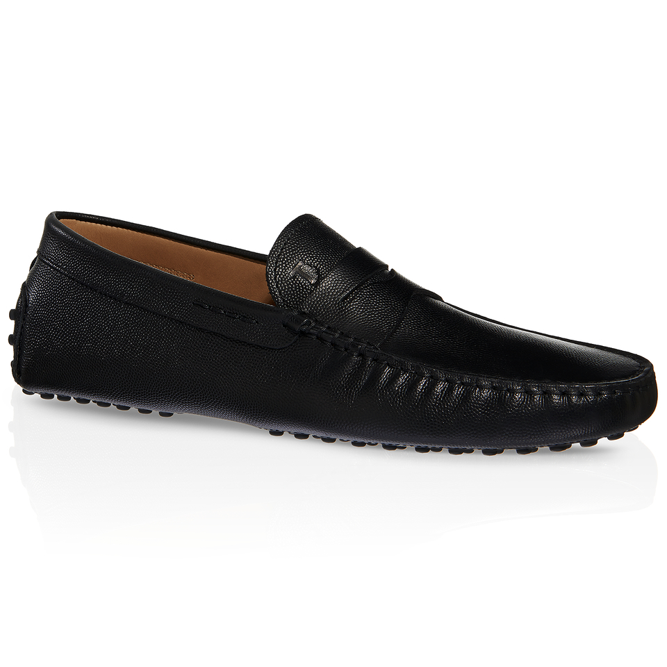 Tods Gommino Driving Shoes In Leather Black For Men Lyst