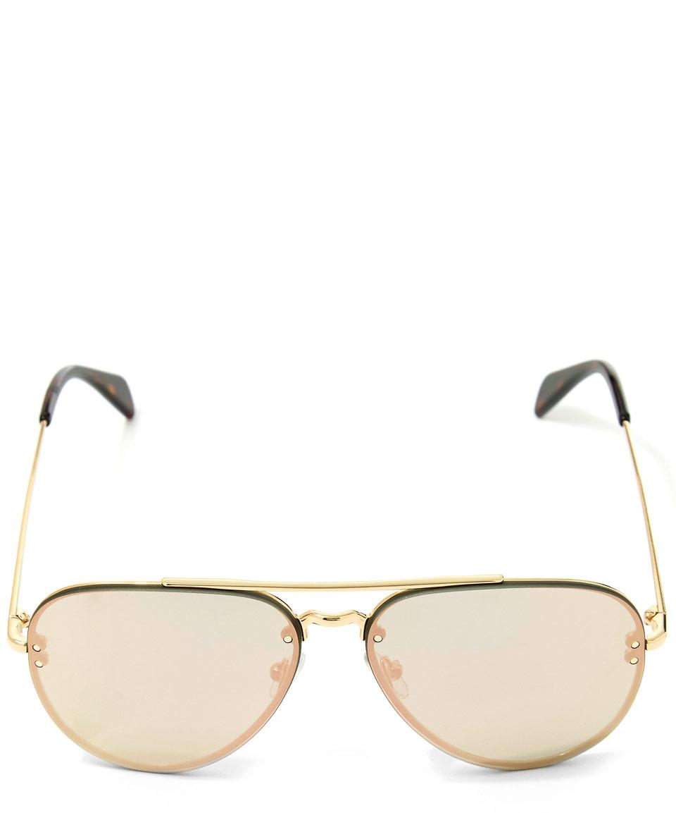 d4e7f86173 Céline Gold Metal Aviator Sunglasses in Metallic - Lyst