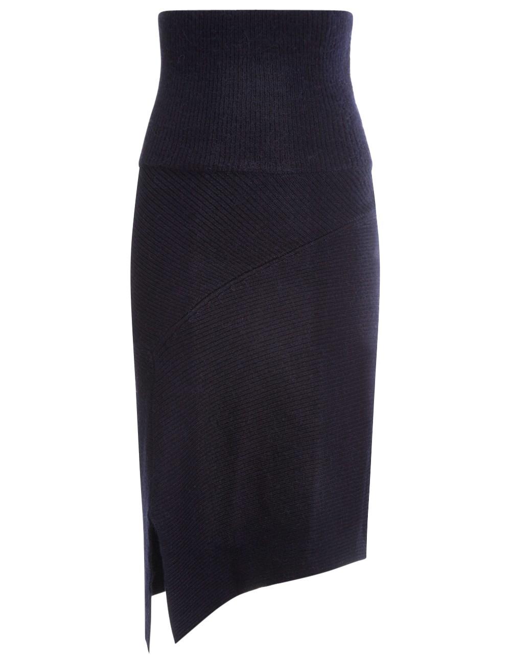 201 toile marant midnight wool lyle midi skirt in blue