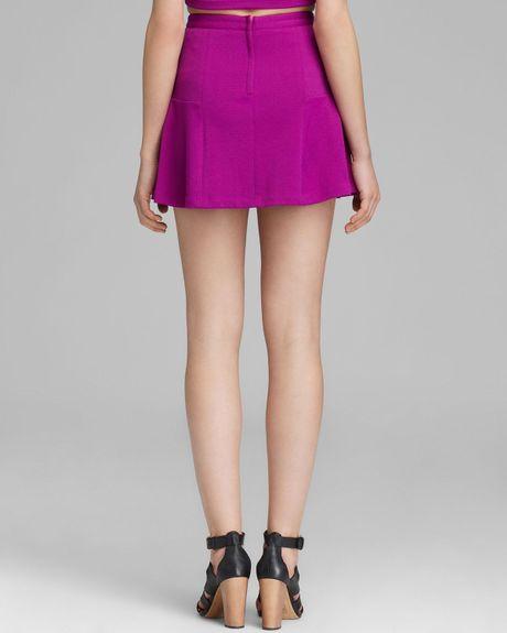 minkpink skirt textured flippy in purple magenta lyst