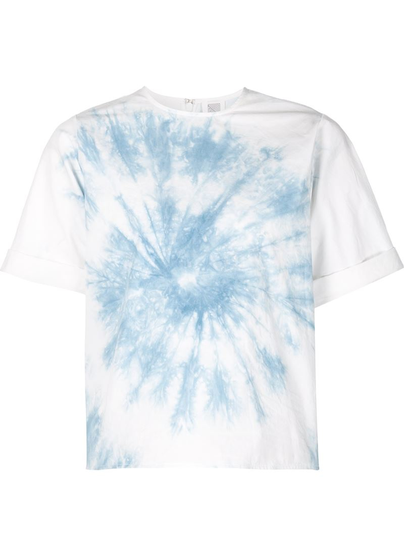 rosie assoulin tie dye t shirt in white lyst