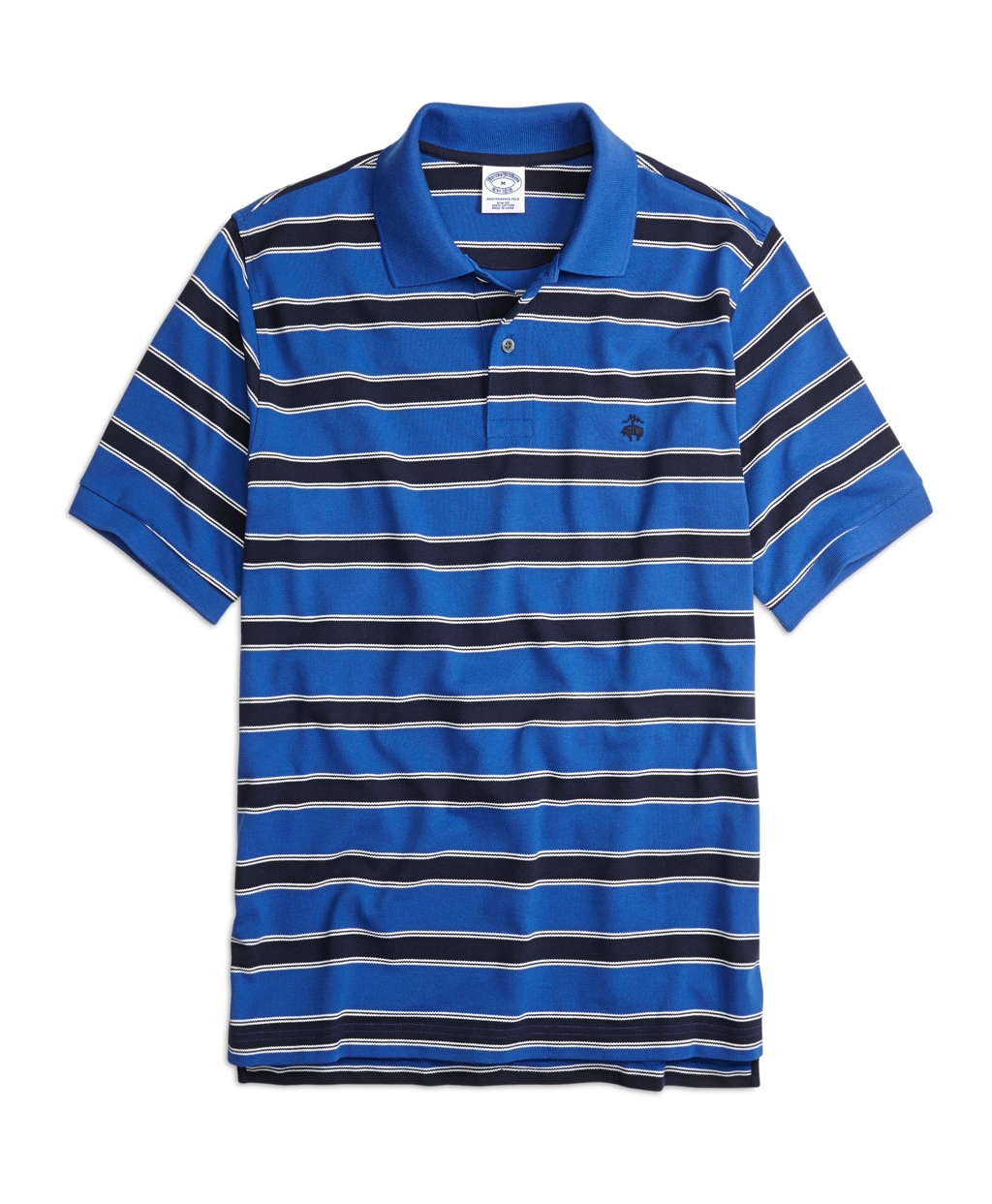Brooks brothers slim fit framed stripe polo shirt in blue Brooks brothers shirt size guide