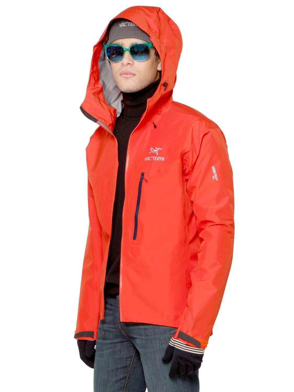 Lyst Arc Teryx Alpha Fl Gore Tex Pro Jacket In Orange