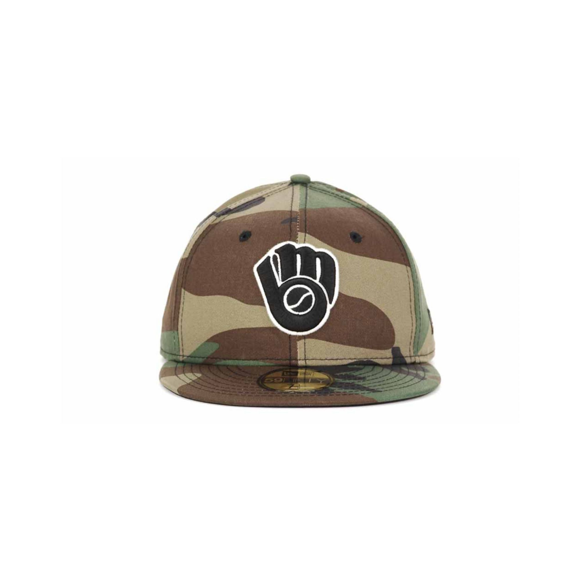 sports shoes 4ea44 a8a98 authentic lyst ktz milwaukee brewers camo 59fifty cap in green for men  a31d6 f3ce7