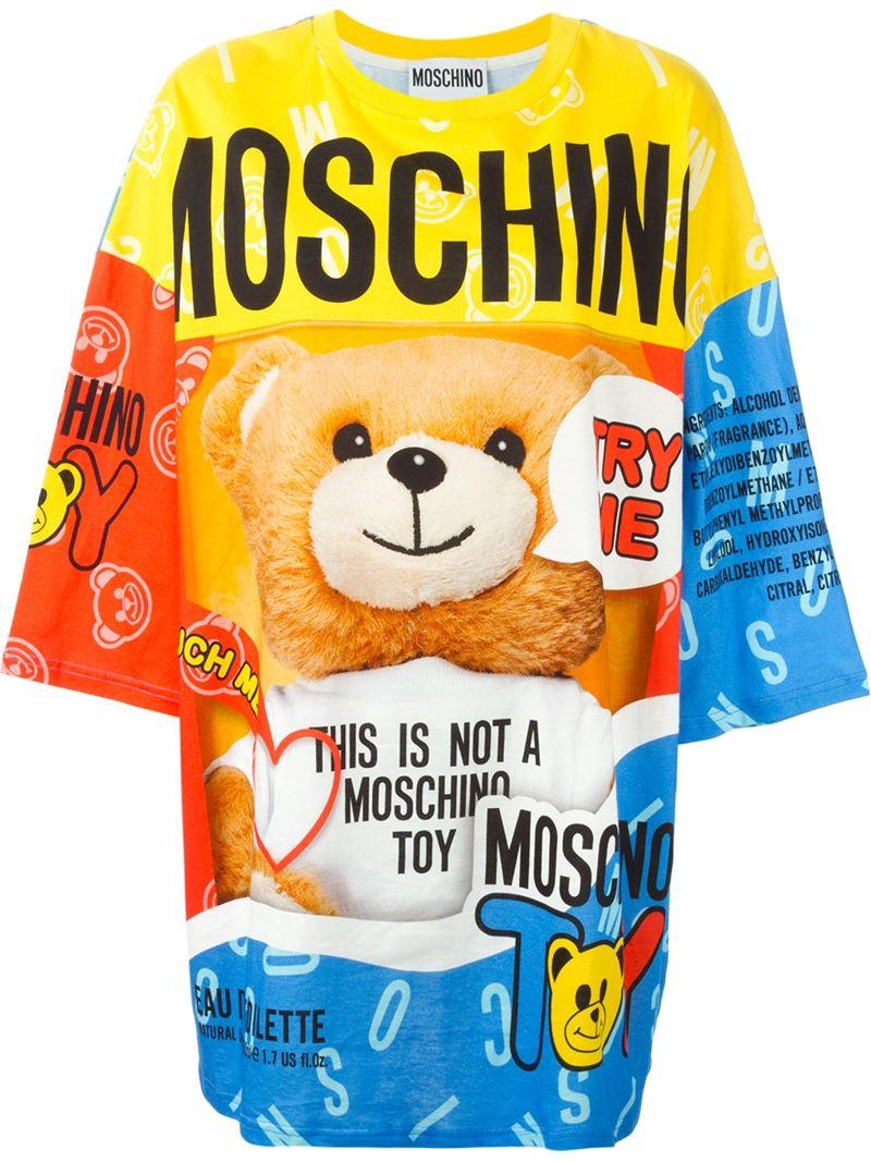 e72ff3ac57e Lyst - Moschino Teddy Bear Perfume T-shirt Dress