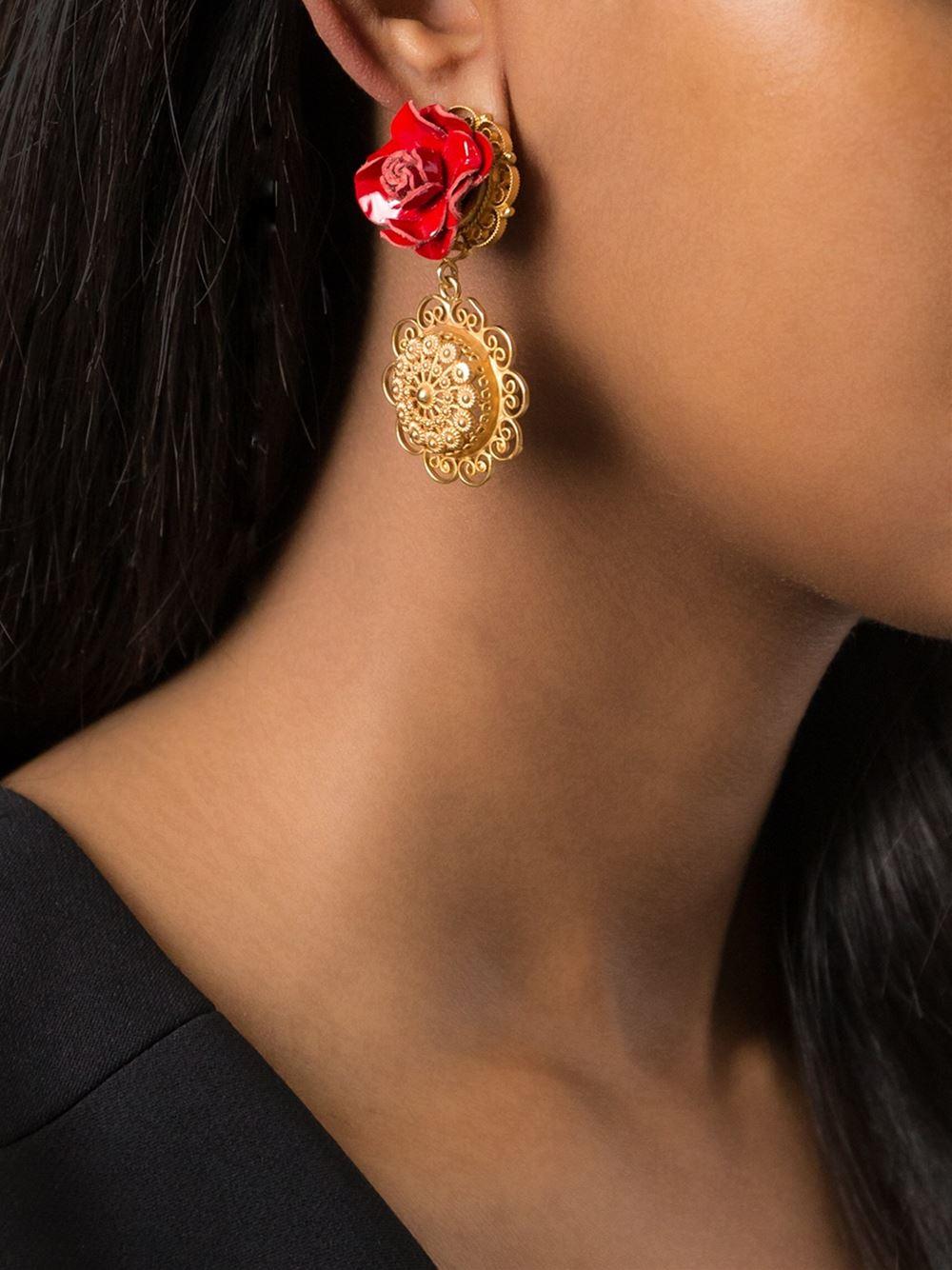 Clip Sur Le Cœur Et Embelli Cristal Boucles D'oreilles Dolce & Gabbana UkWWWd1F