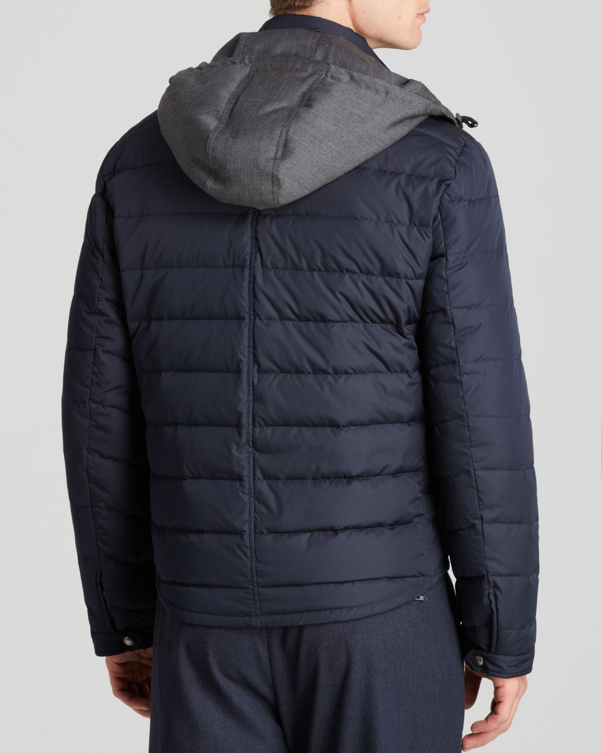 Vince Taffeta Quilted Puffer Jacket in Blue for Men