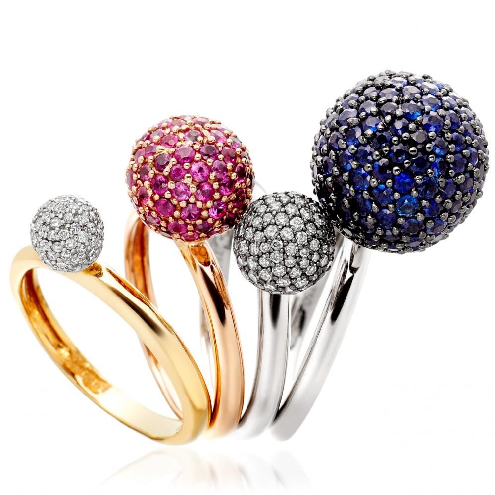 Astley Clarke Large Naiya Ball Ring in Rose (Pink)
