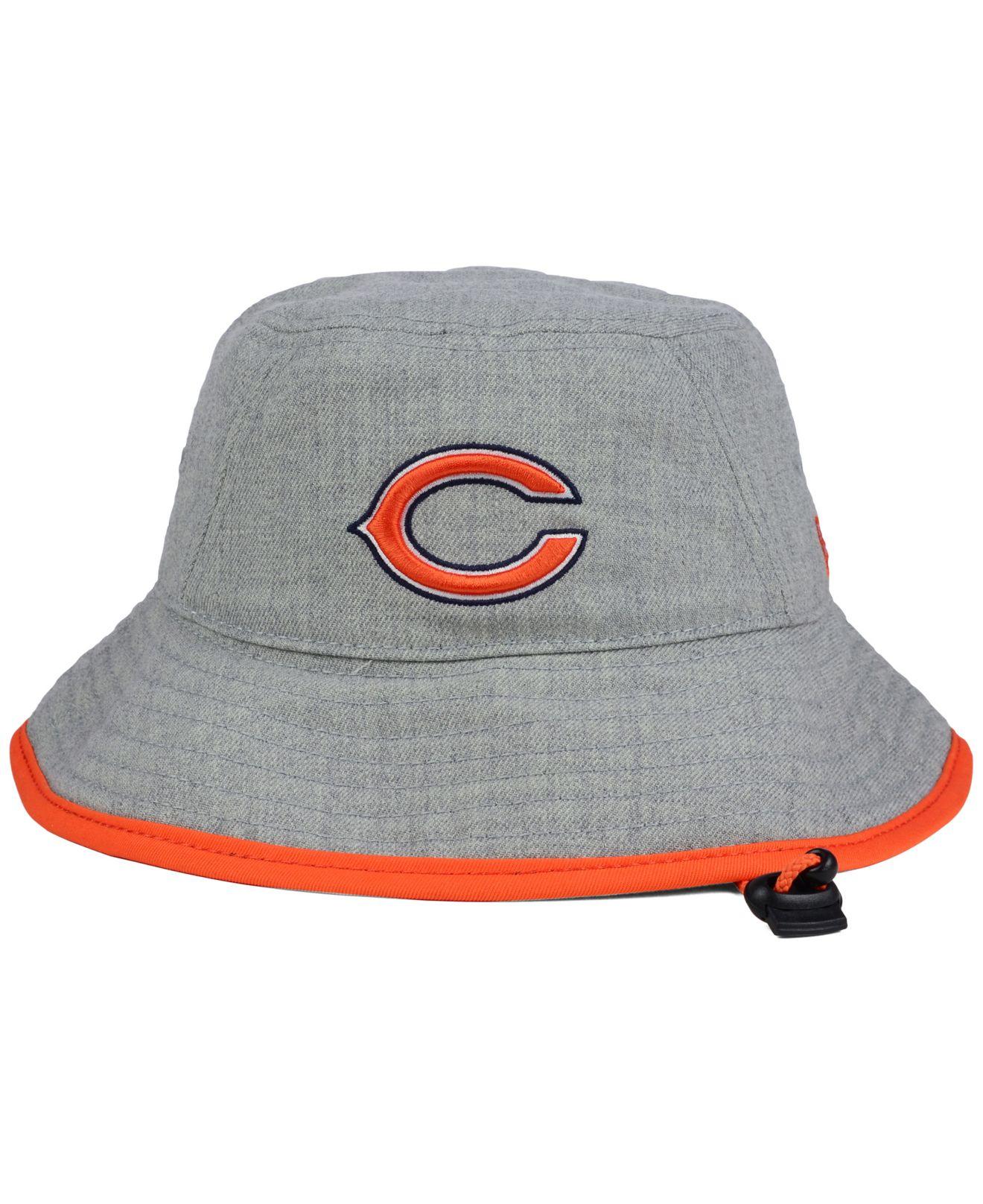 8ca15987e KTZ Chicago Bears Nfl Heather Gray Bucket Hat for men
