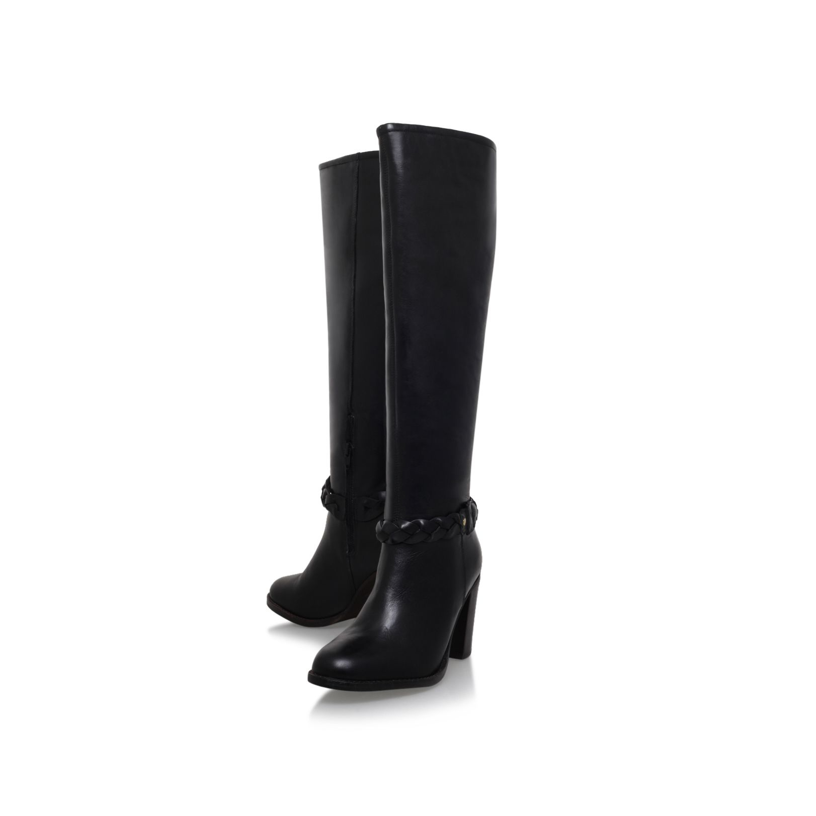 Miss Kg Leather Vienna Knee Boots in Black
