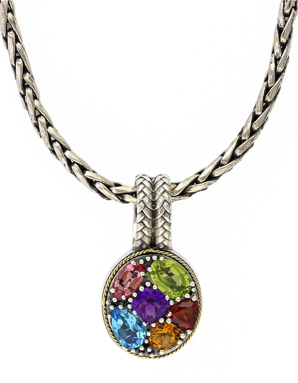 effy balissima 18kt yellow gold and sterling silver multi