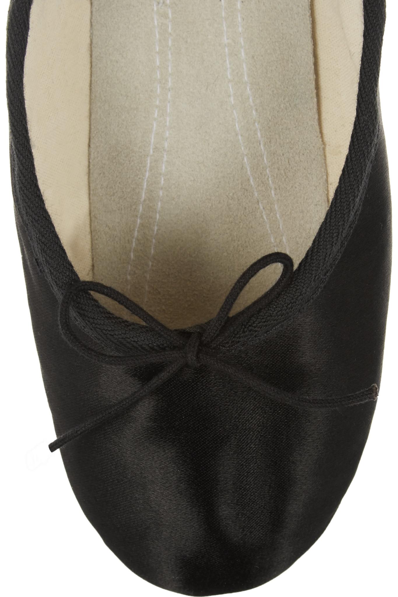 Ballet Beautiful Satin Ballet Slippers In Black Lyst