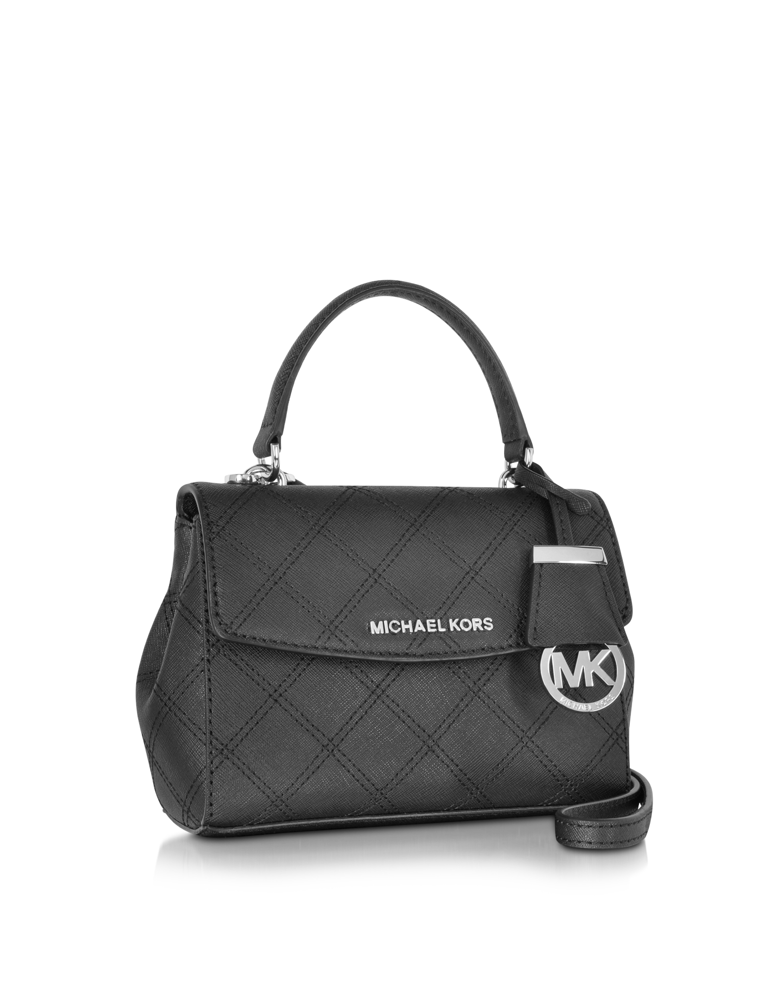 50bf0d09ab1ce Lyst - Michael Kors Ava Saffiano Stitch Quilt Leather Extra Small ...