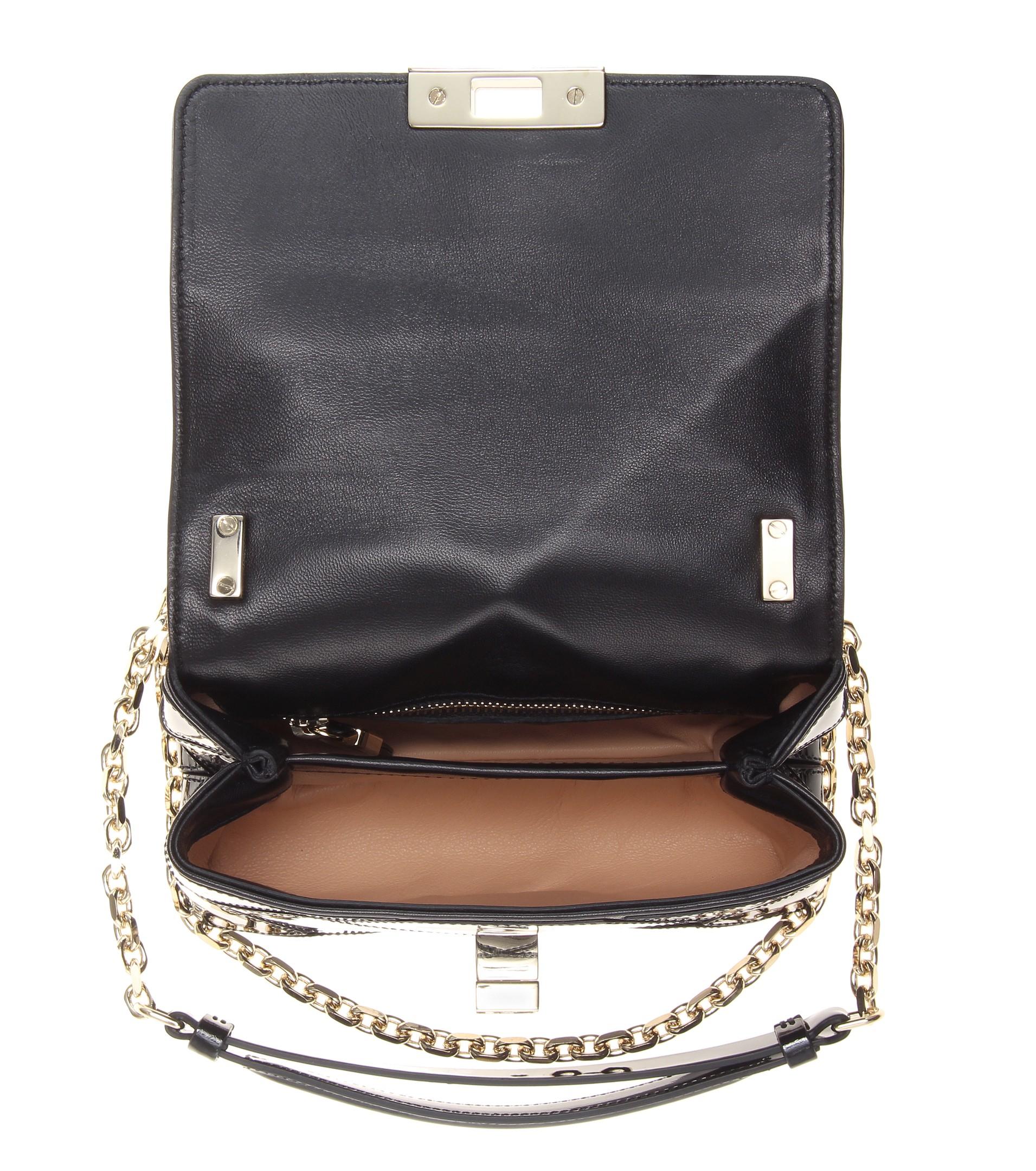 Lyst - Roger Vivier Prismick Micro Patent-Leather Shoulder Bag in Black 2c5f939f27fc9