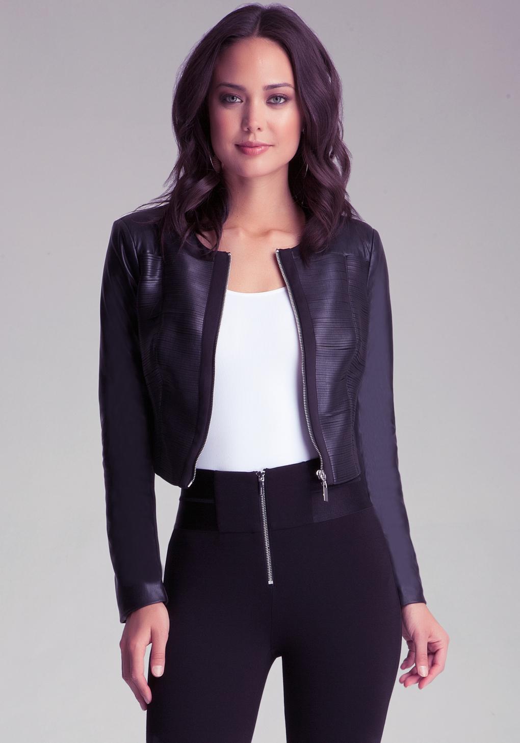 Bebe leather jackets