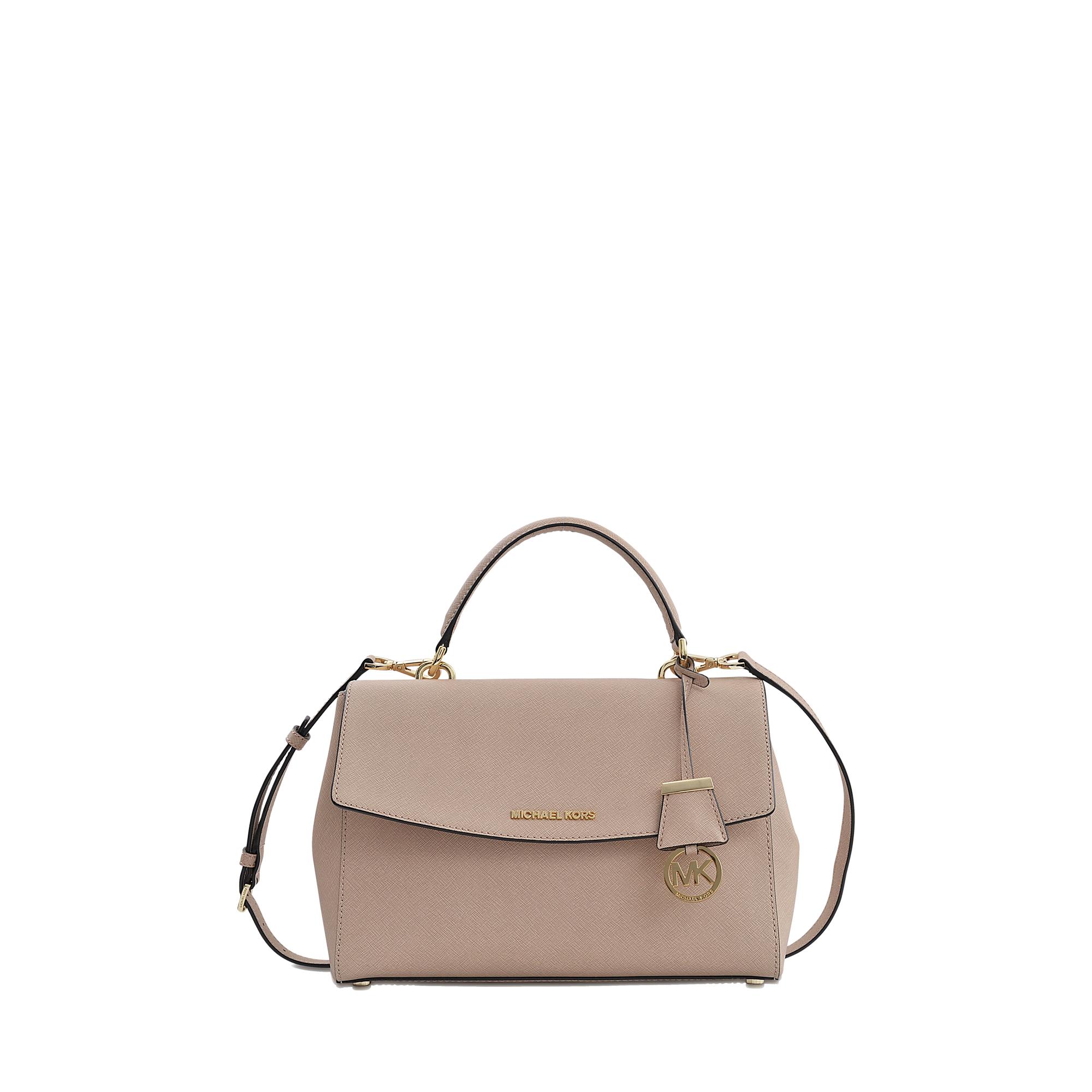 9f298b9c6618 ... saffiano leather top handle satchel bag 96b5c 392af cheapest lyst michael  michael kors ava medium satchel 18k bag in natural e4dfa b707a ...
