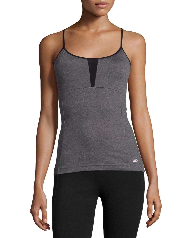 Alo Yoga Strand Crisscross Tank Top In Black