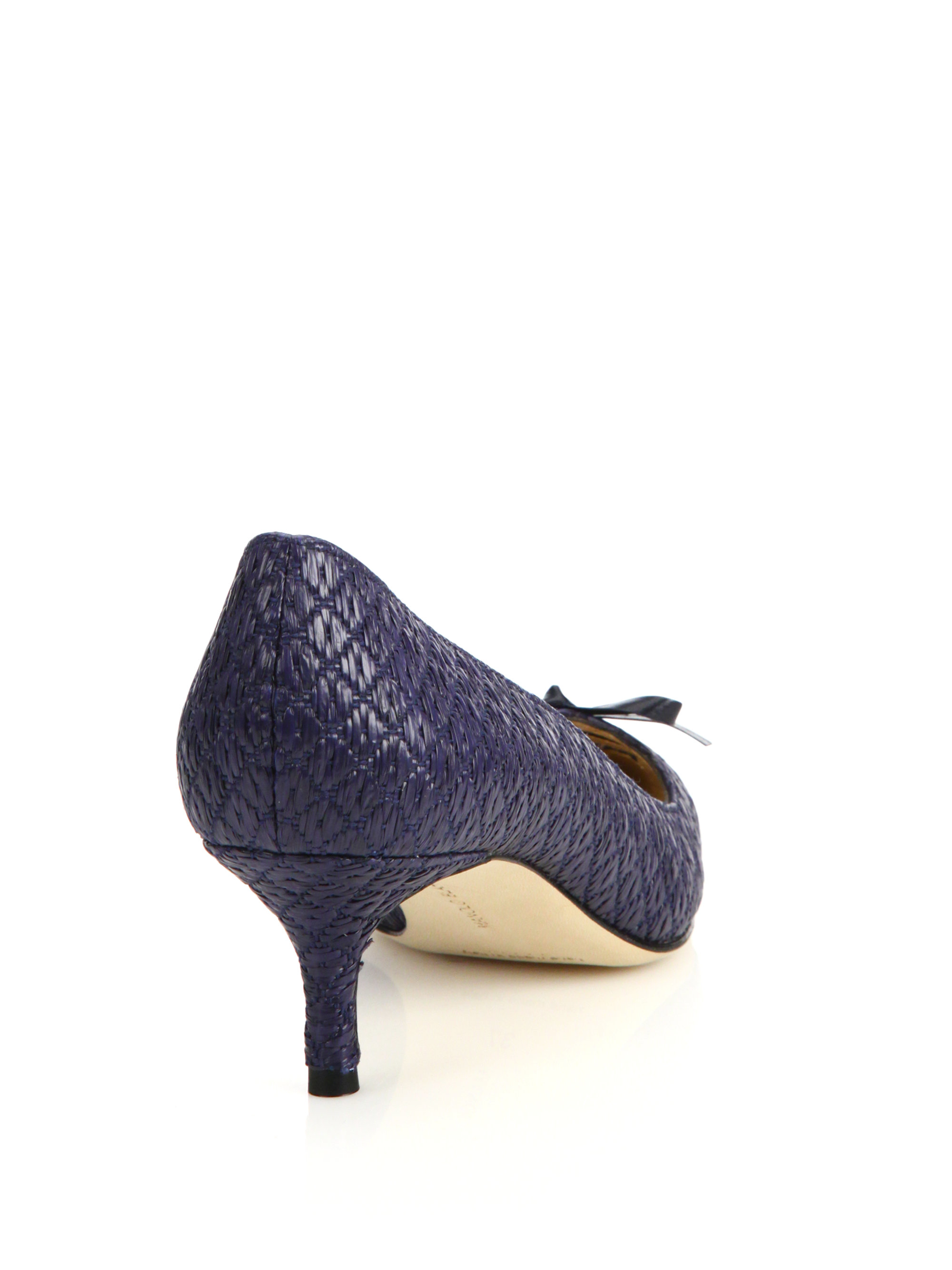 Women Navy Raffia Shoes