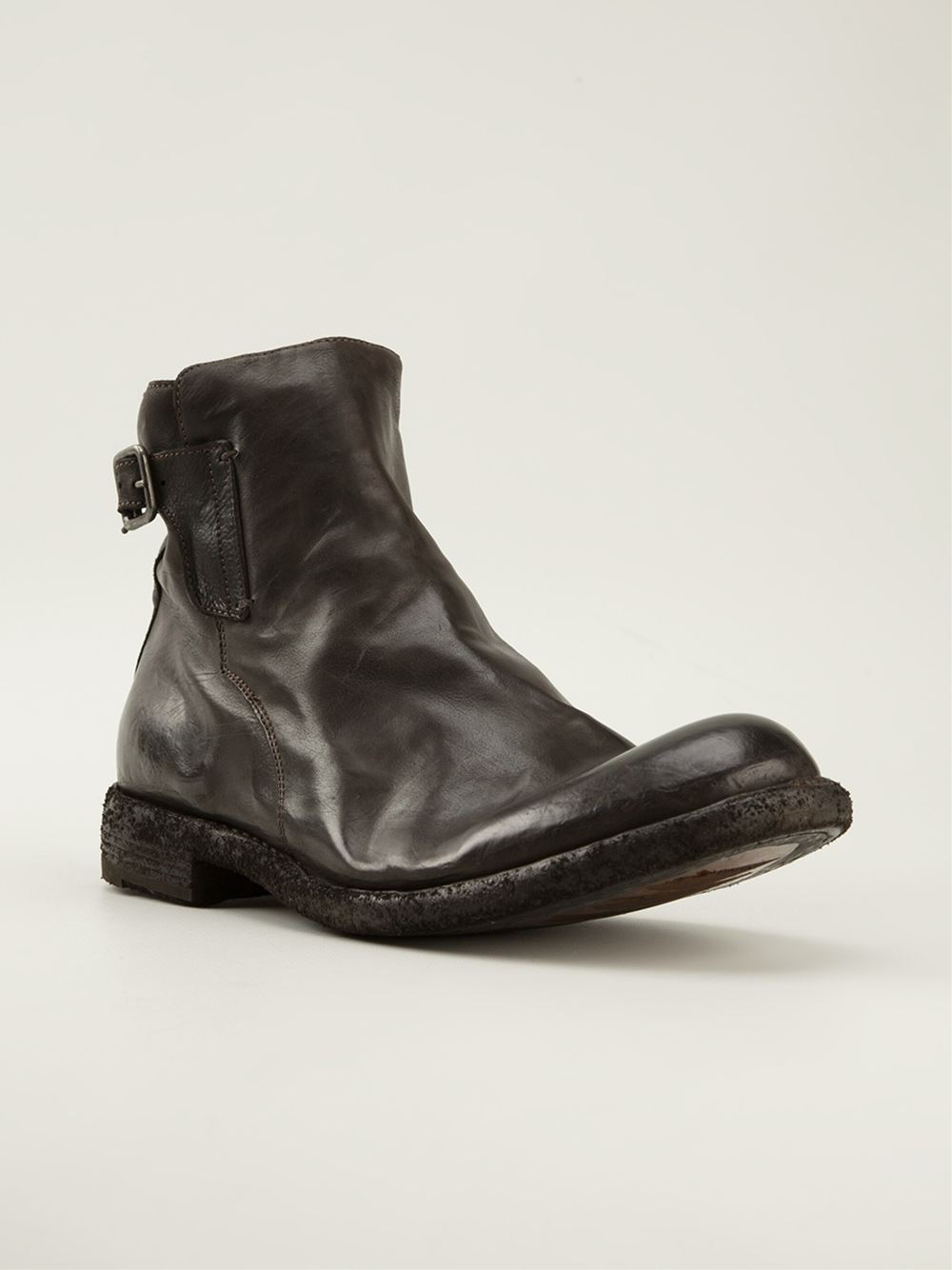 Lyst Officine Creative Ideal Buckled Ankle Boots In