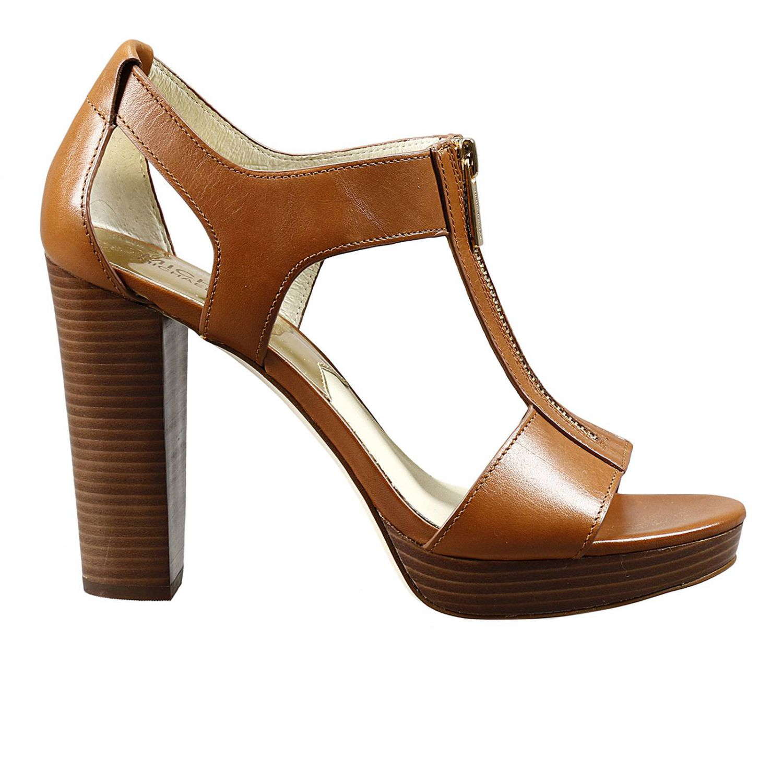 michael kors heels woman in brown lyst. Black Bedroom Furniture Sets. Home Design Ideas