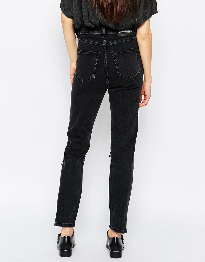 Dr. denim Cropa Cabana High Waist Cropped Skinny Jeans - Black in ...