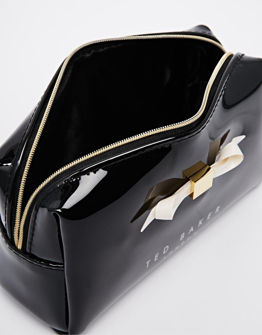 0023445cd69 Ted Baker Slim Bow Makeup Bag in Natural - Lyst