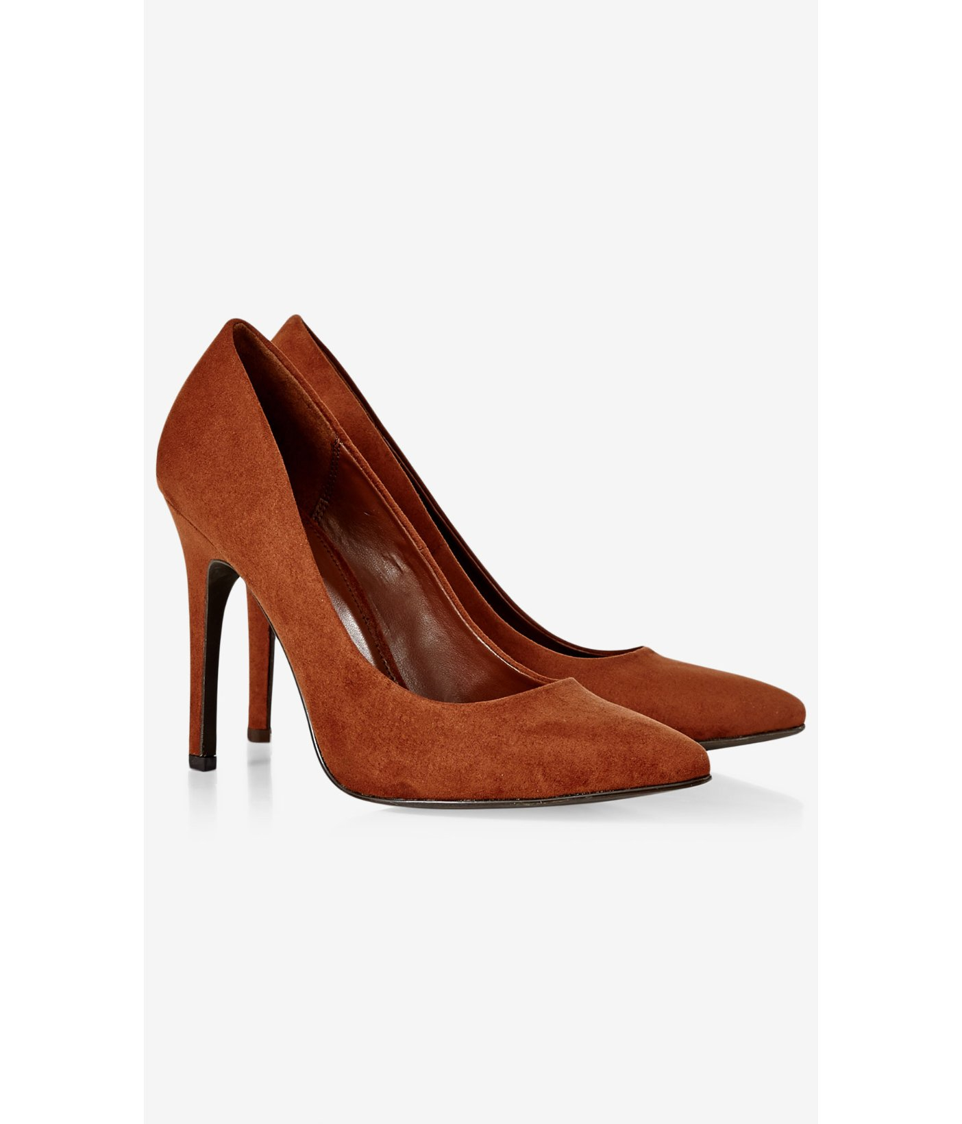 Faux Suede Classic Pointed Toe Pump