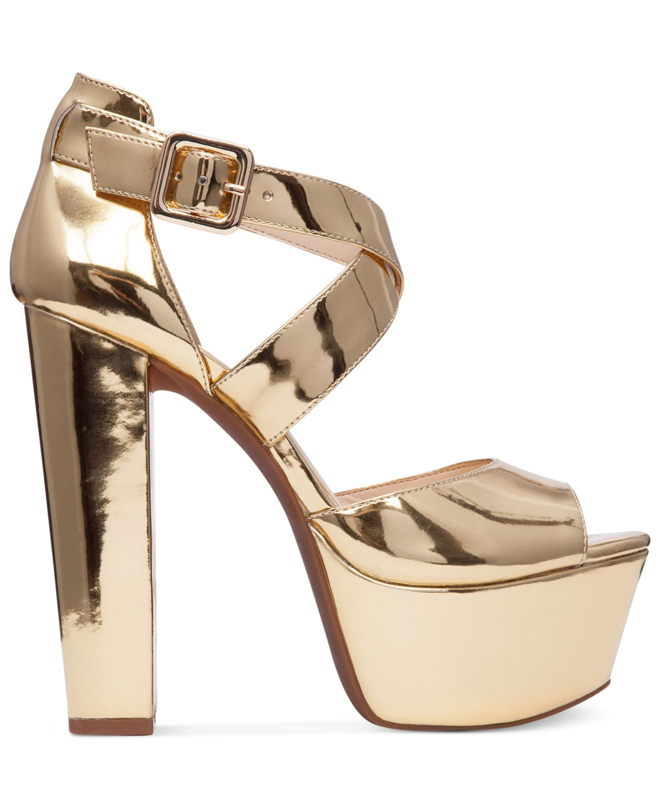 c004ab2d5a2 Lyst - Jessica Simpson Derian Platform Sandals in Metallic