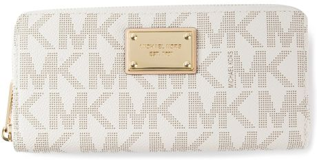 France Michael Kors Wallets - Accessories Michael Kors Logo Print Wallet White