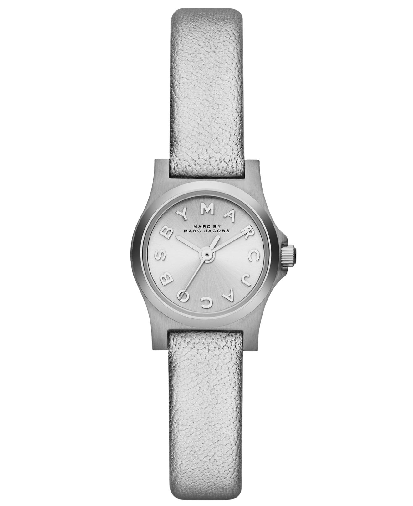 094e0d1d249d7 Marc By Marc Jacobs Women's Henry Dinky Silver Metallic Leather ...