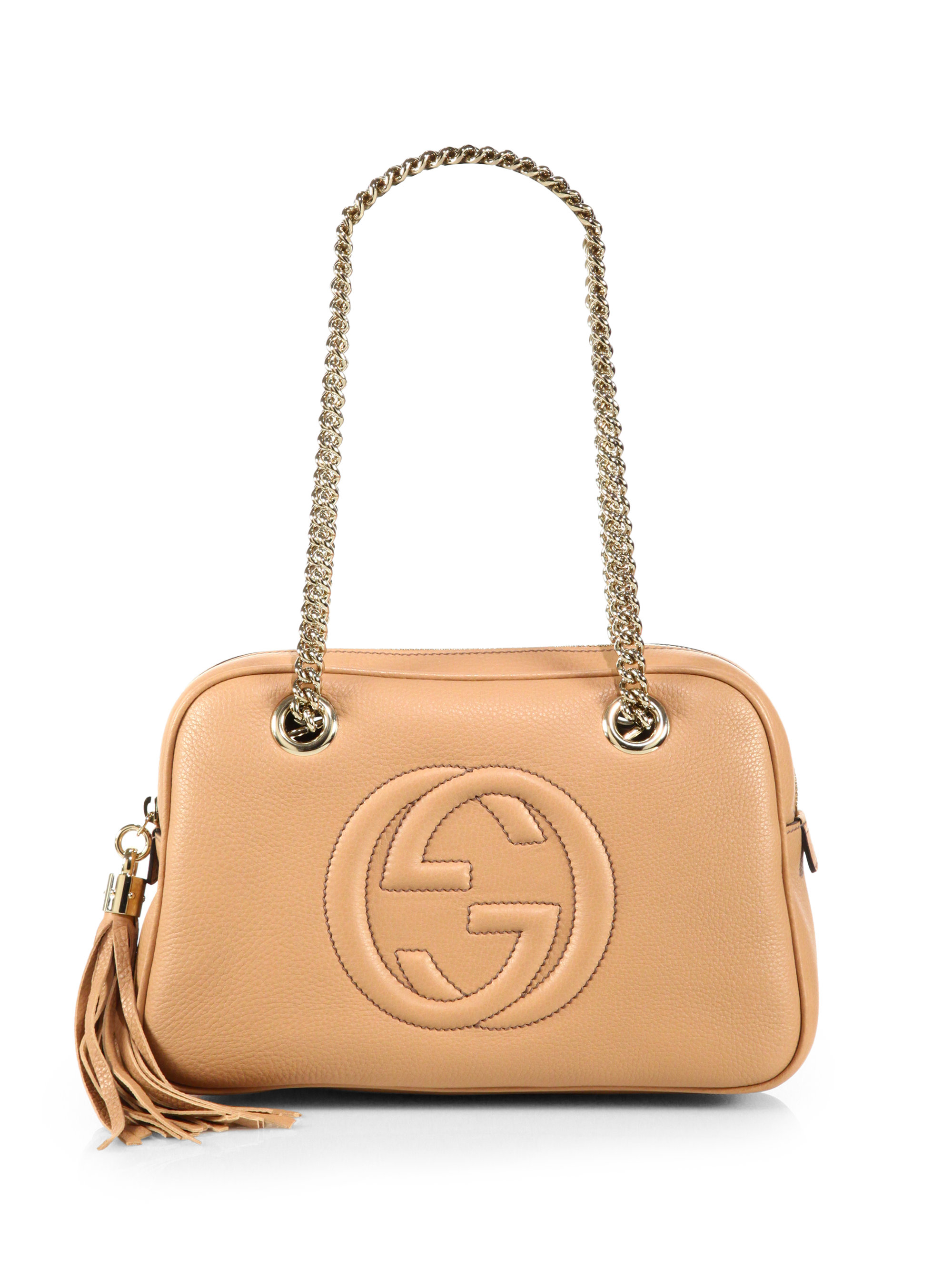 gucci soho leather chain shoulder bag in pink lyst. Black Bedroom Furniture Sets. Home Design Ideas