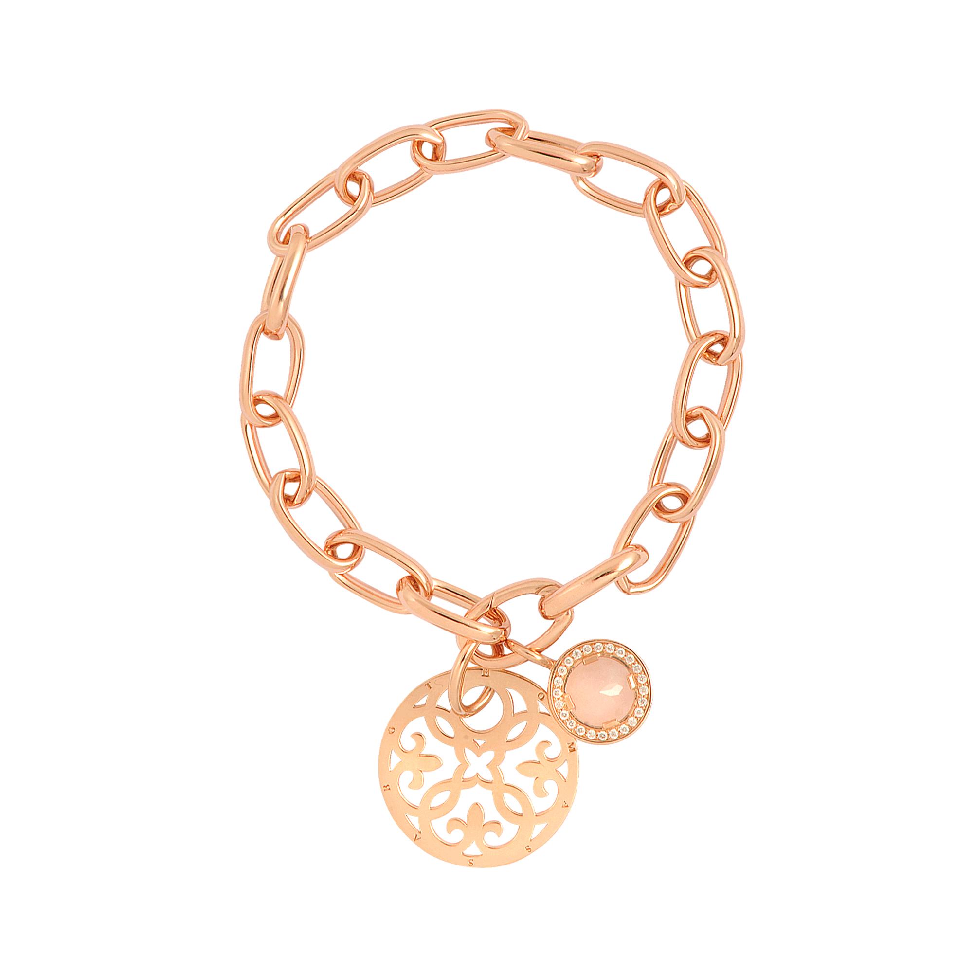 3e82e7af8b453 Thomas Sabo Pink Rose Gold Charm Bracelet