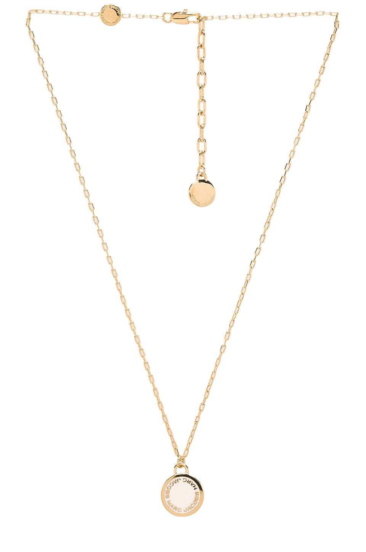 marc enamel logo disc pendant necklace in