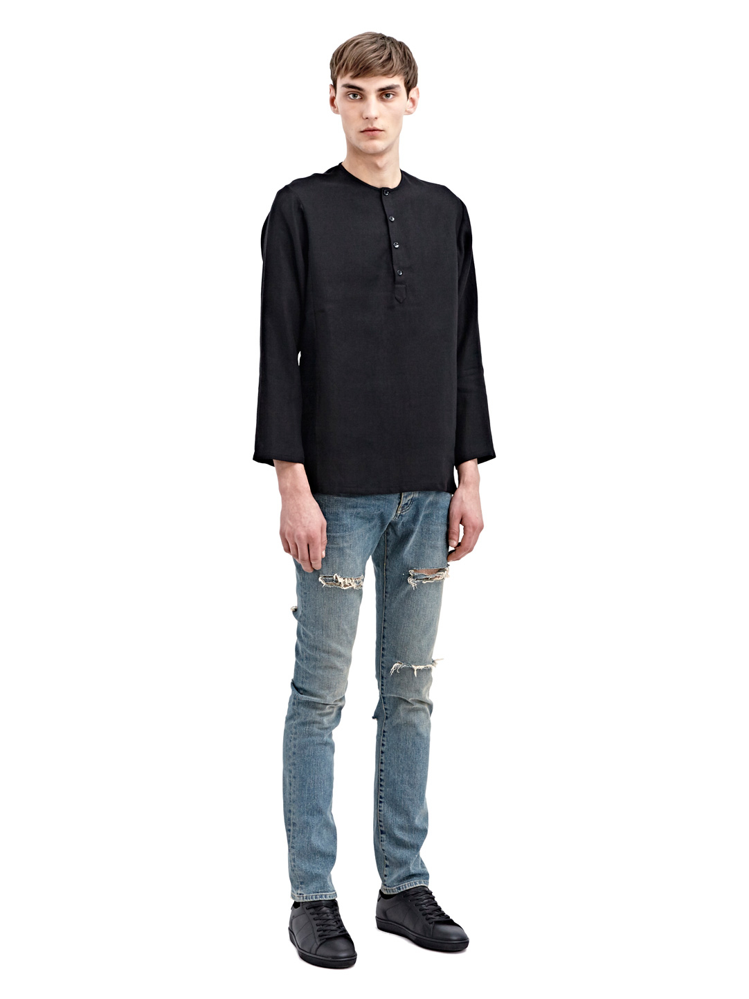 Lyst - Saint Laurent Mens Slim Denim Jeans in Blue for Men