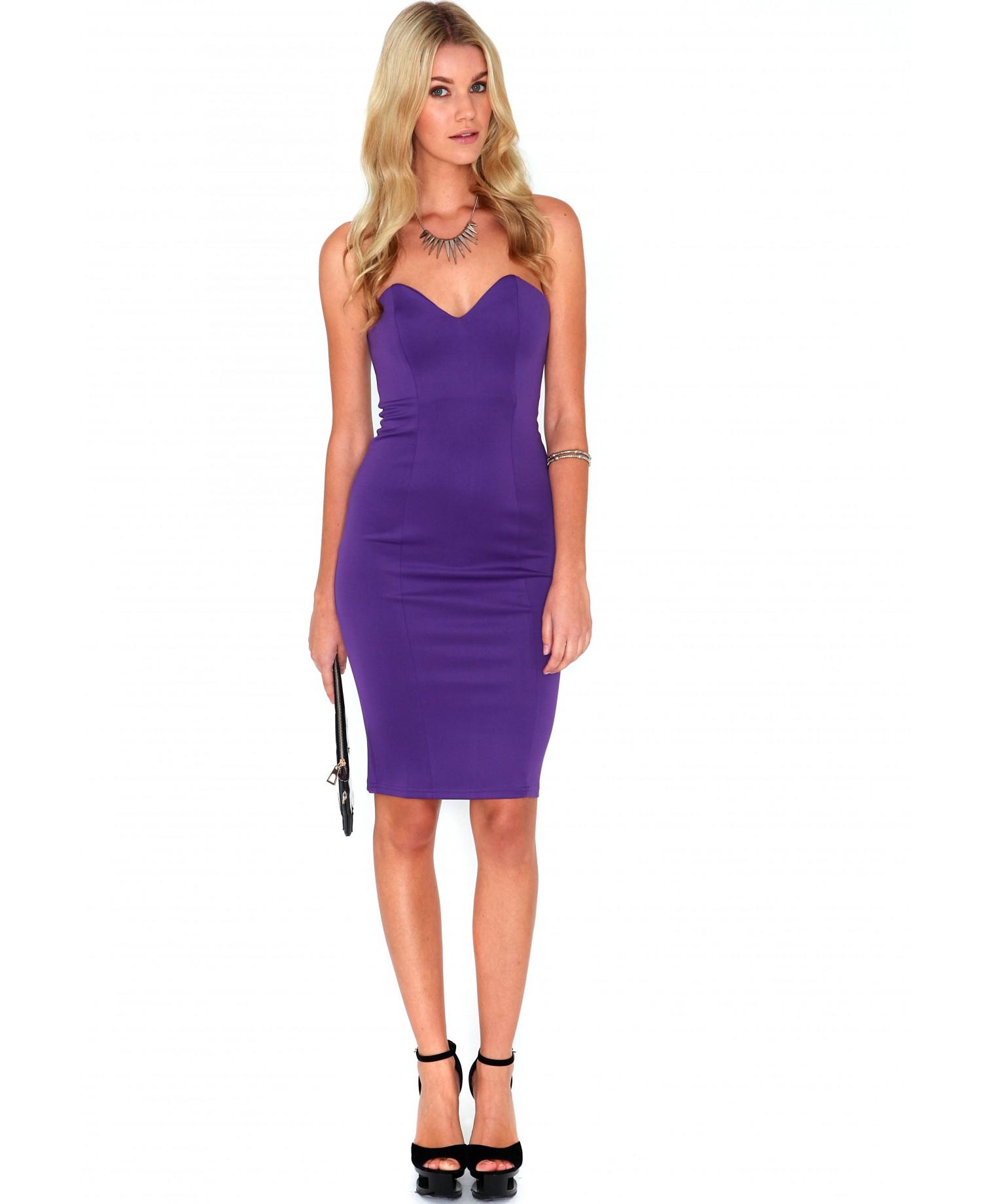 purple midi dresses