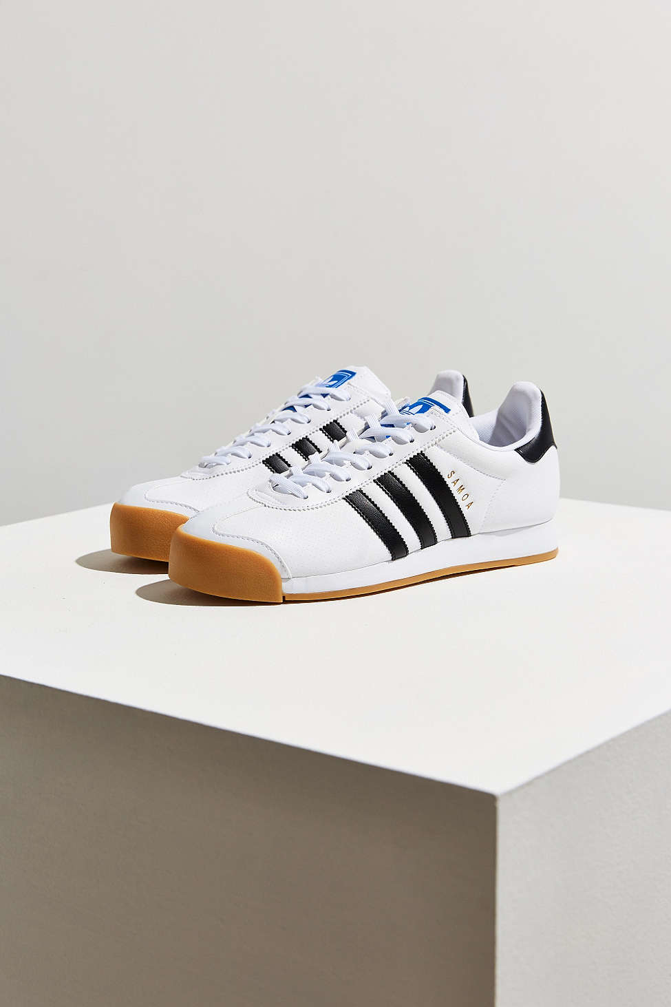 0ae47bf9a2b528 Lyst - adidas Originals Samoa Perforated Gum Sole Sneaker in White