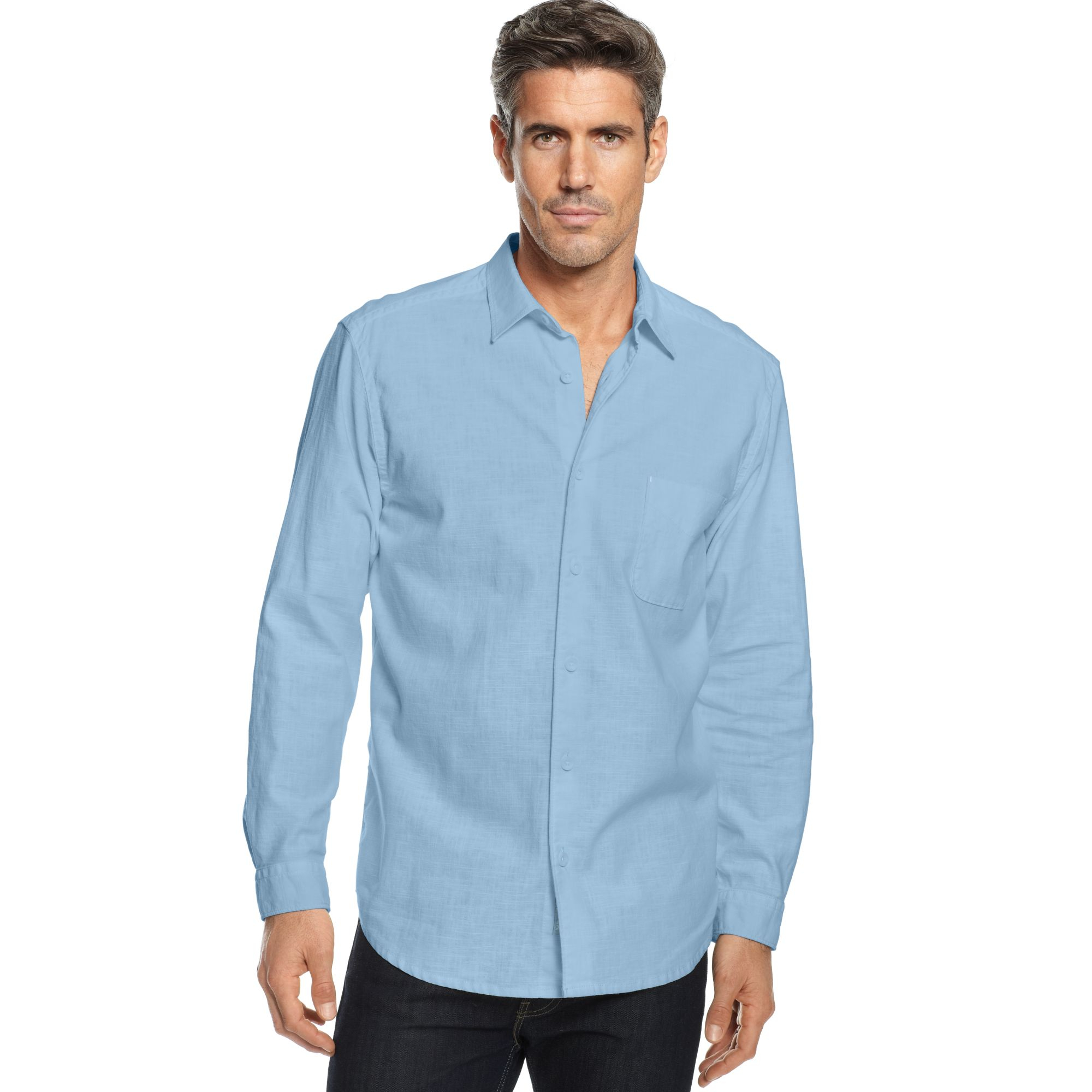 Tommy bahama big and tall sea glass breezer shirt in blue for Tommy bahama christmas shirt 2014