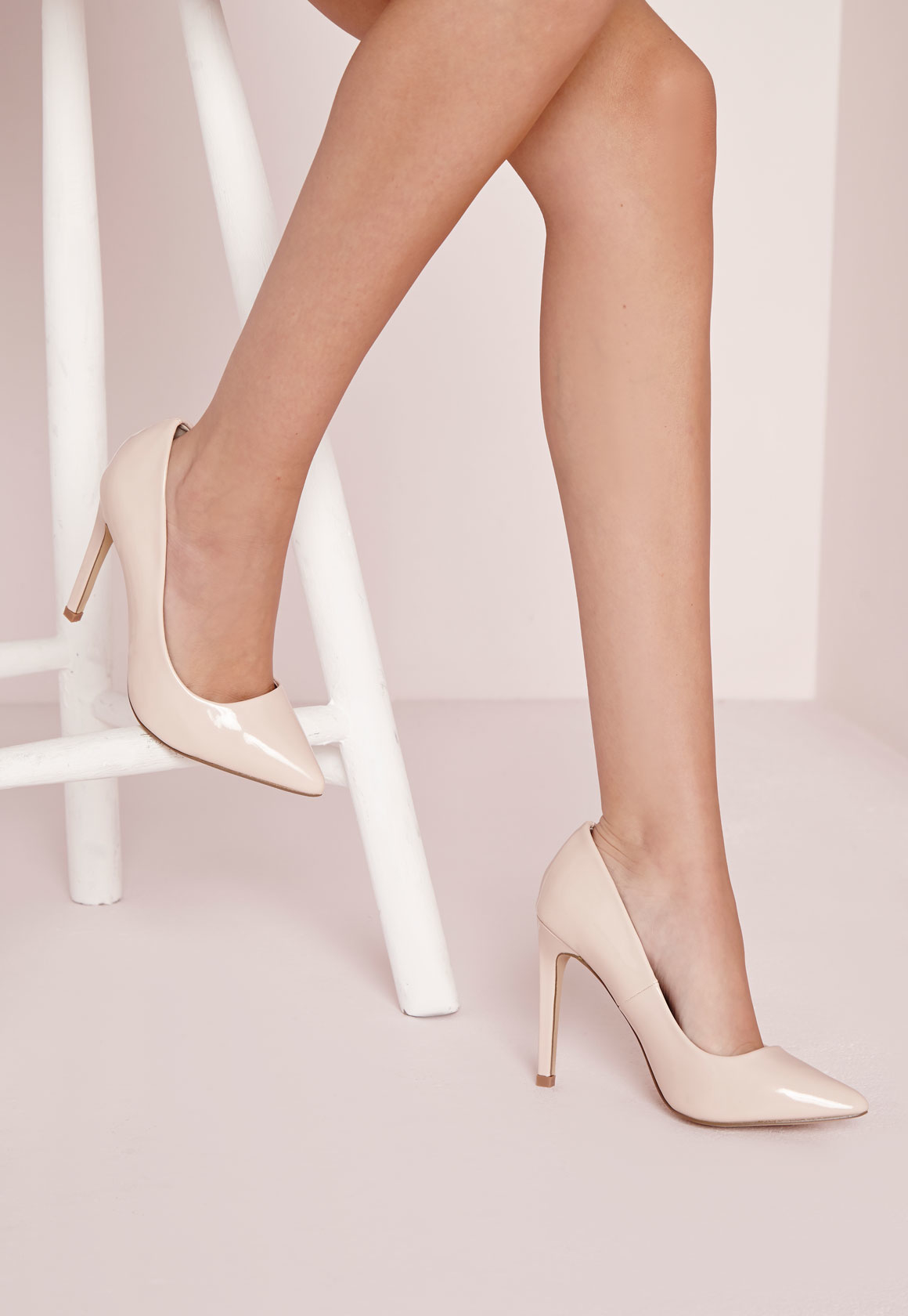 e08951fe83a Missguided Pointed Stiletto Court Shoes Nude in Natural - Lyst
