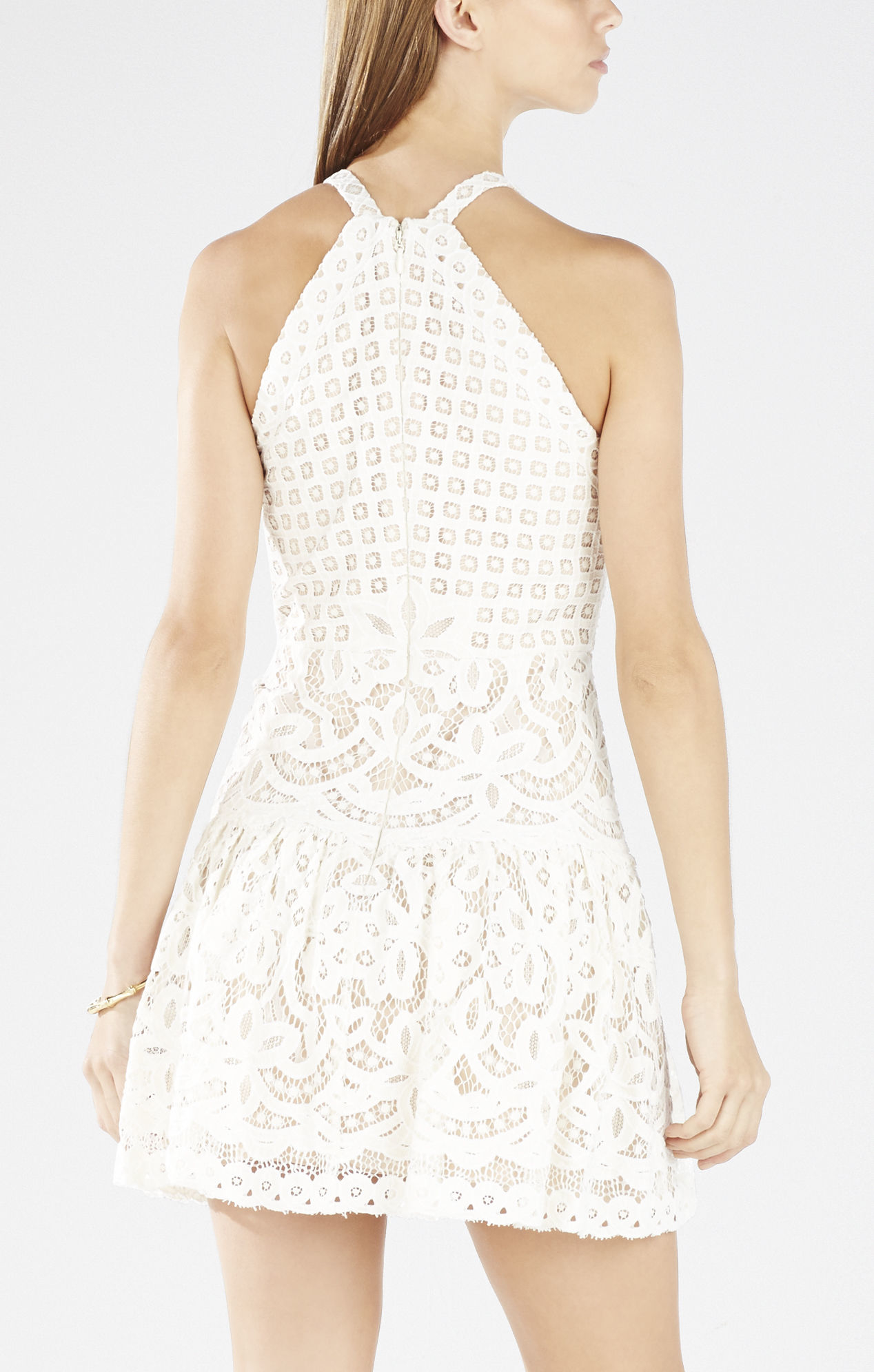 a6d363802 BCBGMAXAZRIA Carlita Sleeveless Lace Dress in White - Lyst