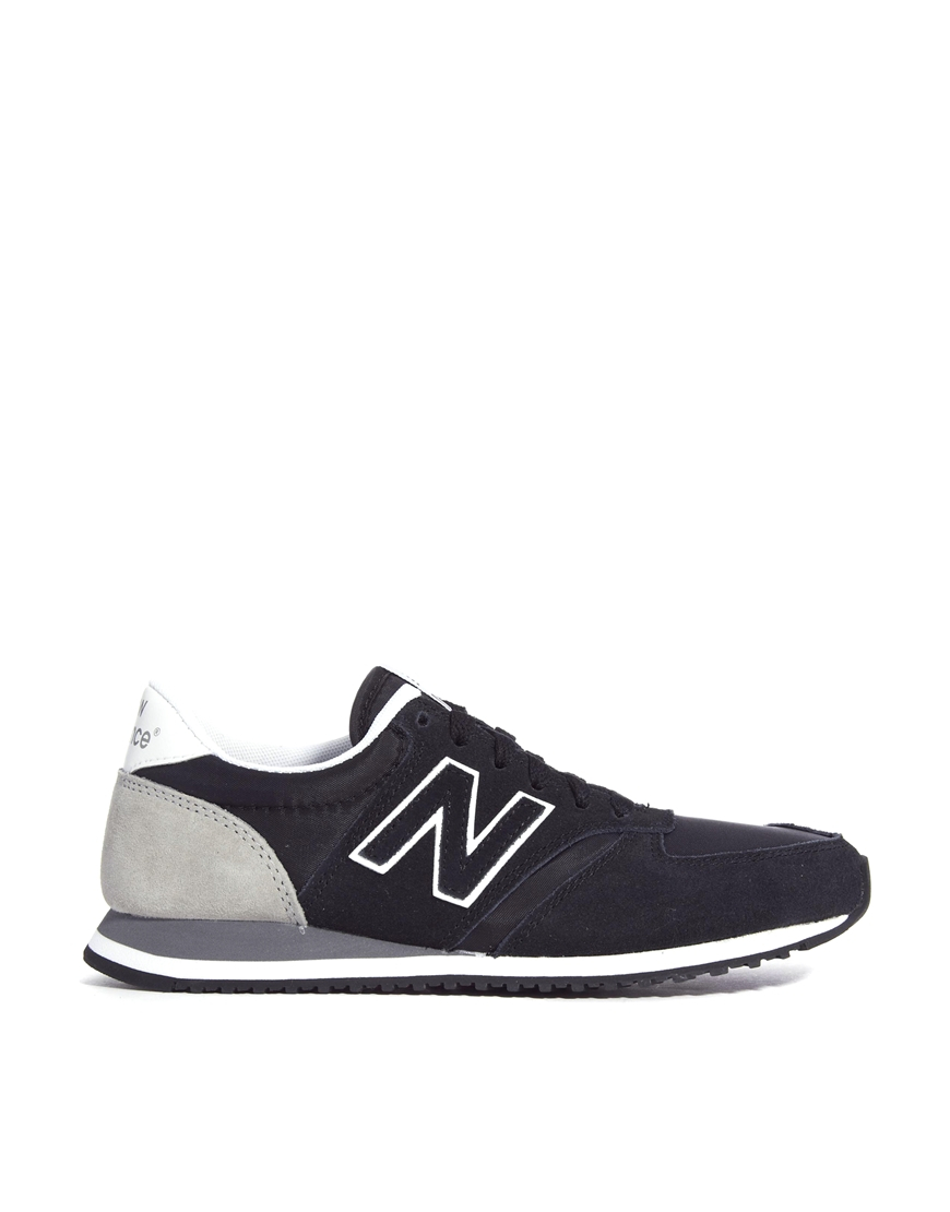 new balance black and gray 420 suede mix sneakers in gray. Black Bedroom Furniture Sets. Home Design Ideas
