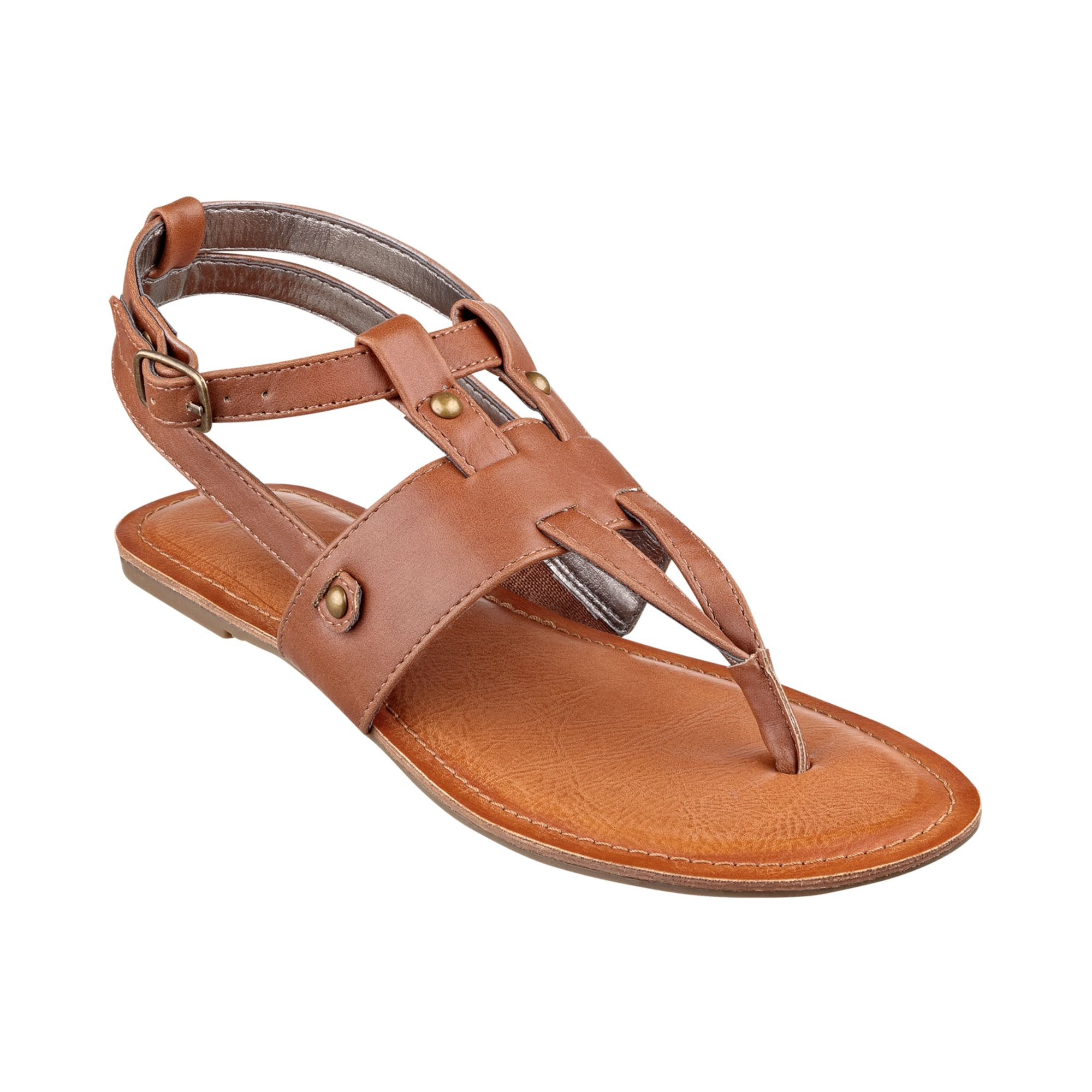 Pink And Pepper Stately Thong Sandals In Brown Cognac Lyst