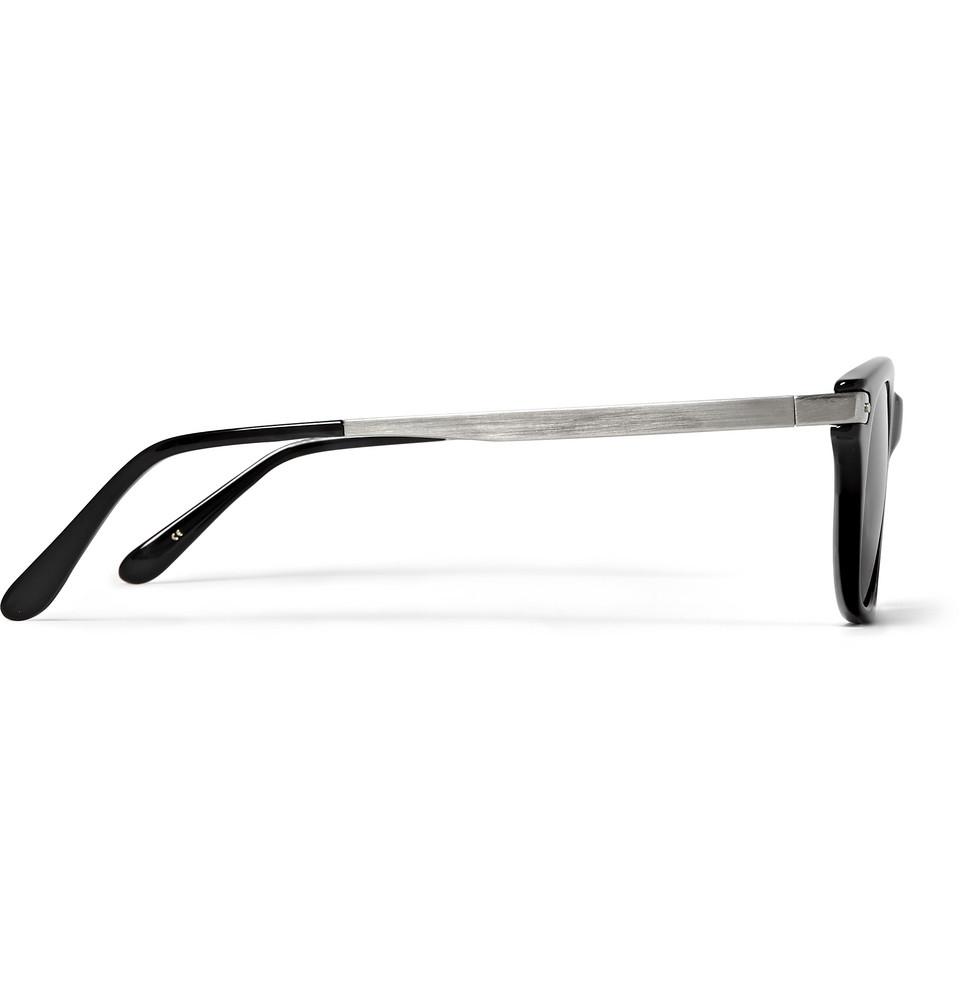 Eyevan 7285 Square-Frame Acetate Sunglasses in Black for Men