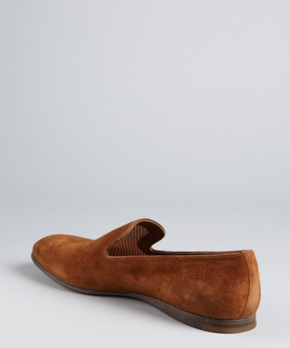 Prada Russet Suede Wooden Sole Loafers in Brown for Men | Lyst