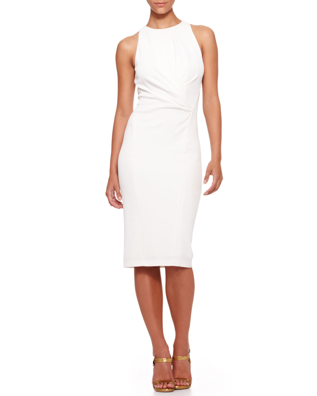Lyst Donna Karan Sleeveless Drapedwaist Sheath Dress In
