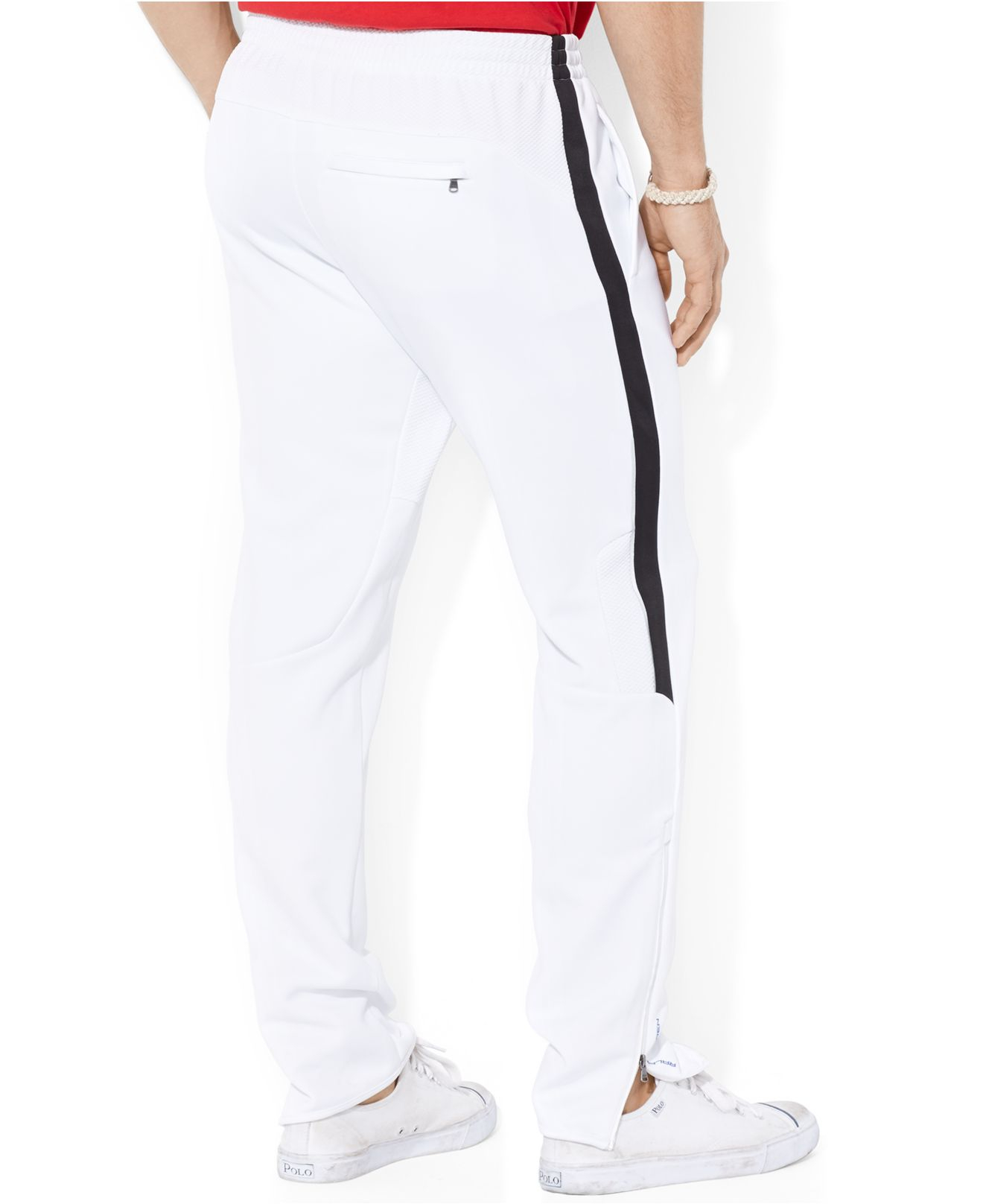 Polo ralph lauren Performance Pique Track Pants in White for Men ...