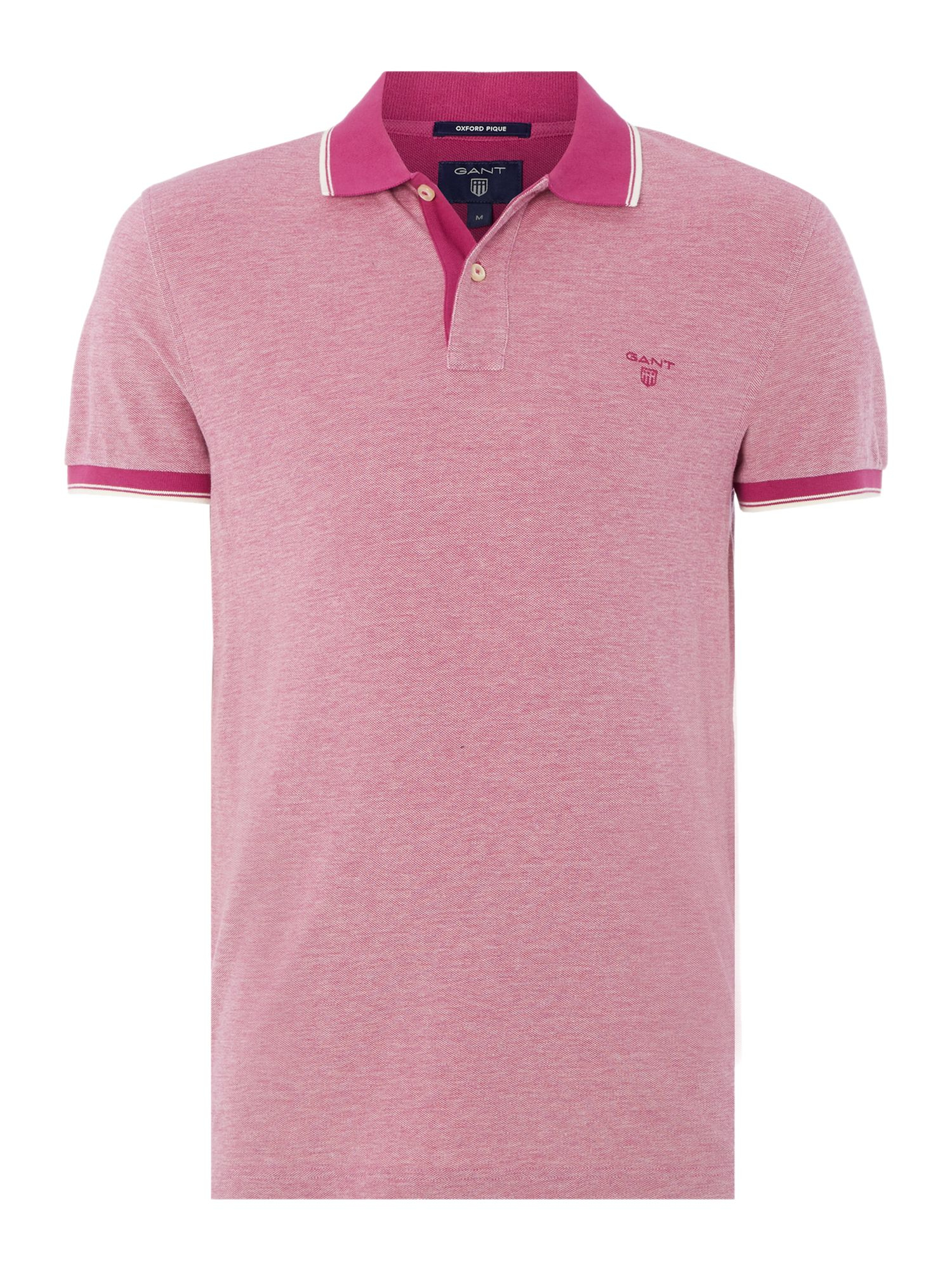 Lyst Gant Contrast Collar Polo Shirt In Purple For Men